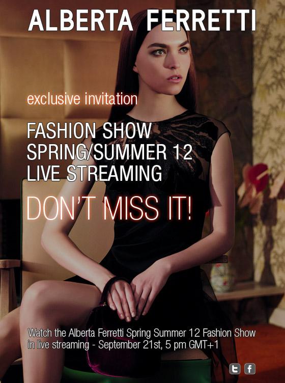 Alberta Ferretti - Spring-Summer 2012 - Fashion Show Live-Streaming