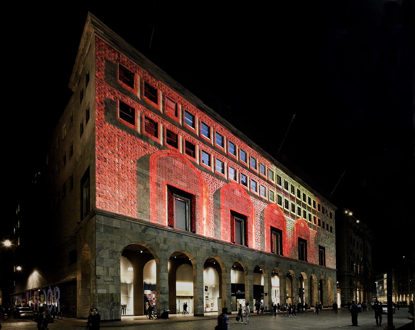 La Rinascente 3D Projections Piazza Duomo Milano