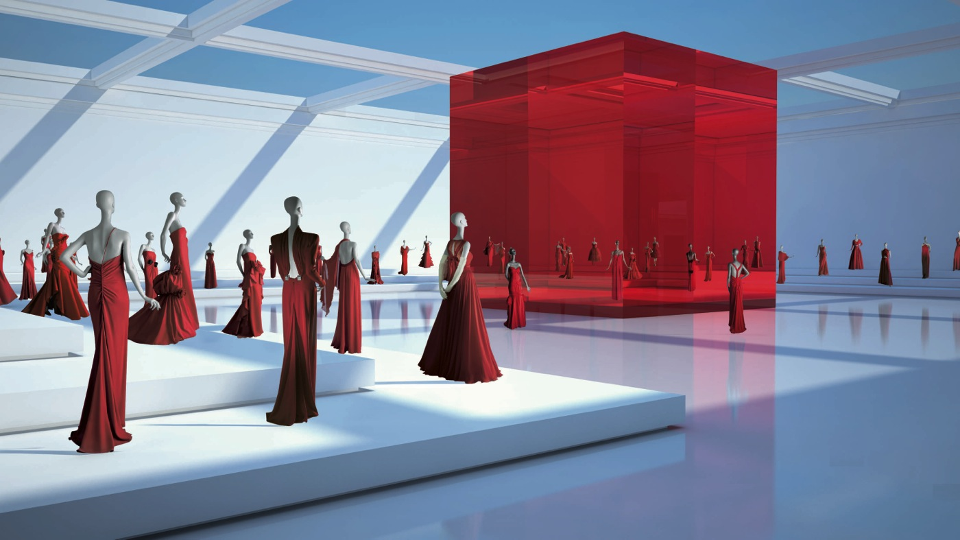 Valentino Garavani Virtual Museum Red Room