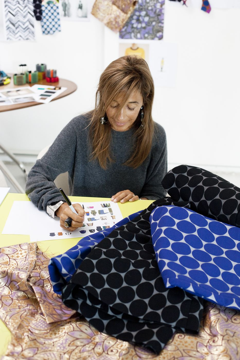 Working process Consuelo Castiglioni Founder and Creative Director of Marni