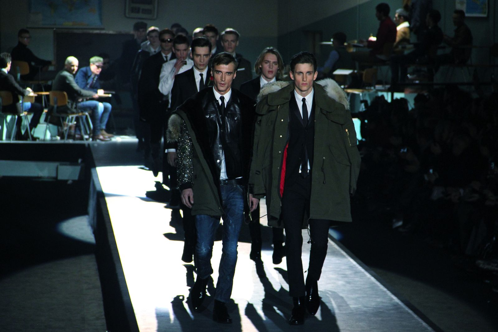 Catwalk Dsquared2 Fall Winter 2012-13 Men Fashion Show