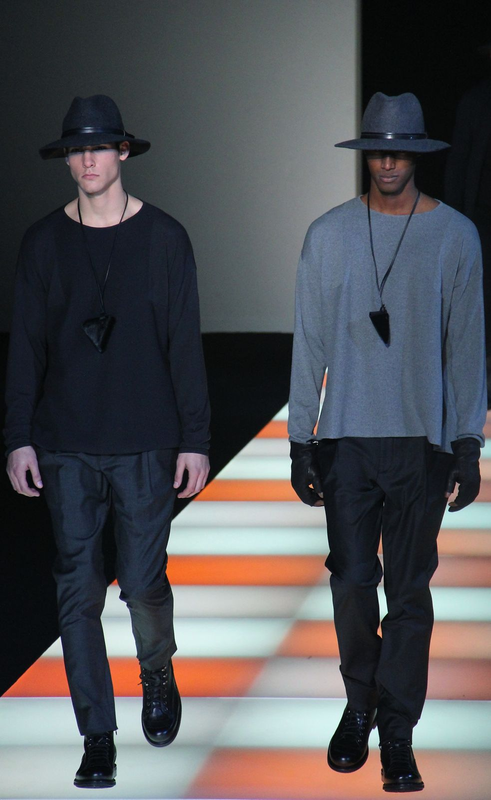 Catwalk Emporio Armani Fall Winter 2012-13 Men Fashion Show