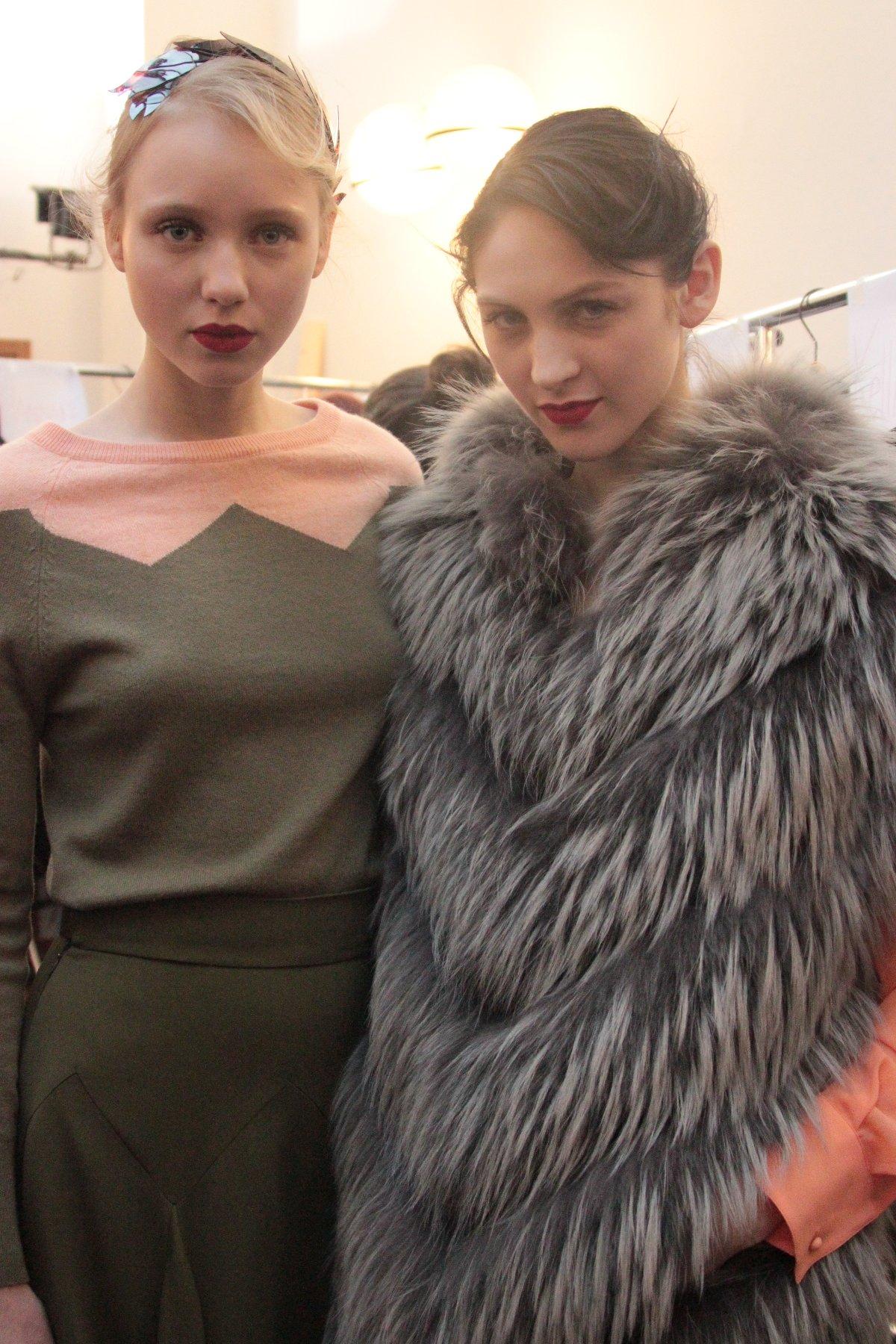 Backstage Milan Fashion Week