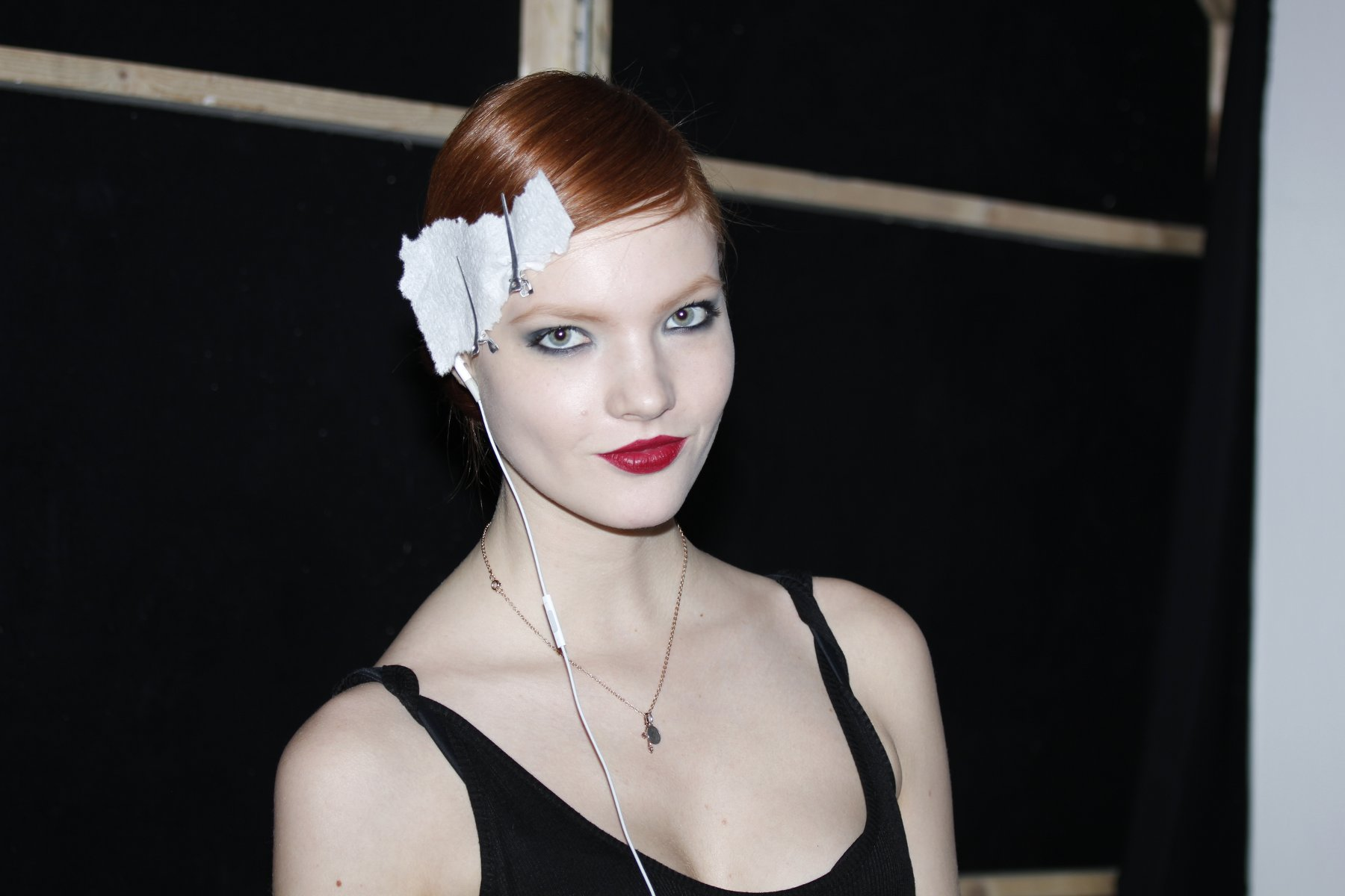 Backstage Paola Frani Fall-Winter 2012-2013
