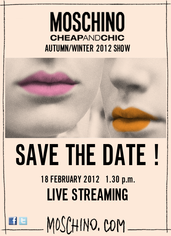 Moschino Cheap And Chic Live Streaming February 2012