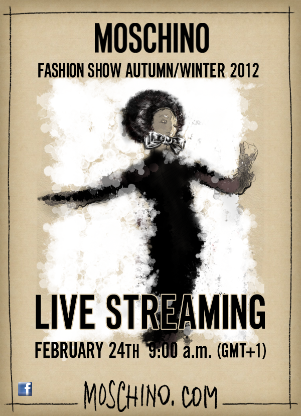 Moschino Live Streaming February 24 2012 Milano Fashion Week