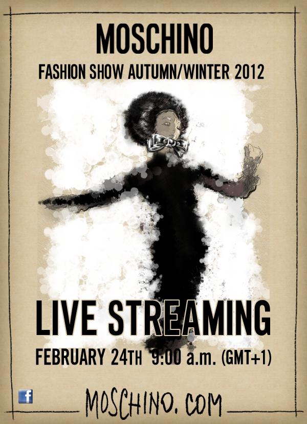 Moschino Live Streaming February 24 2012 Milano Fashion Week