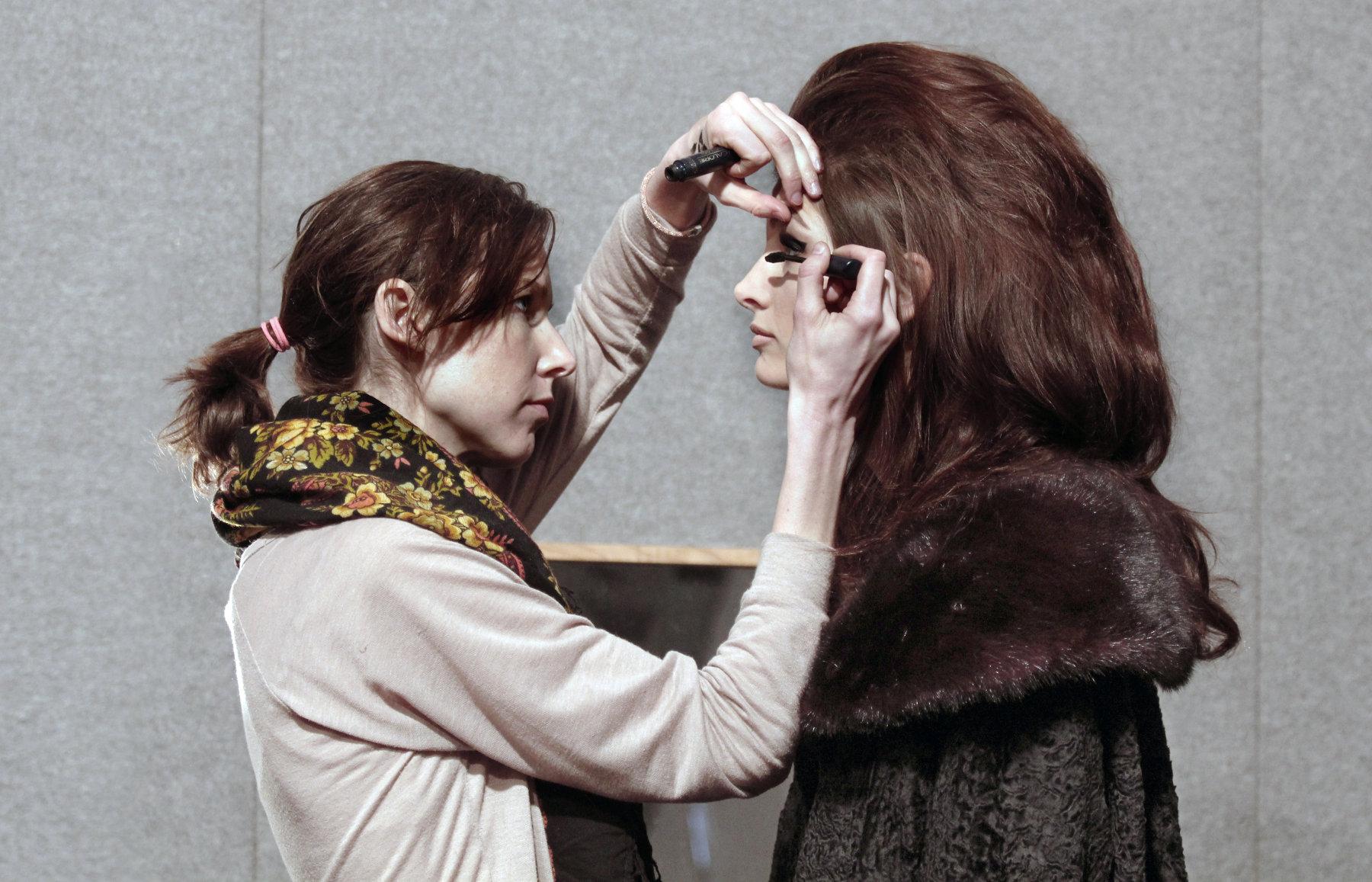 Fashion Show Backstage Beauty Makeup