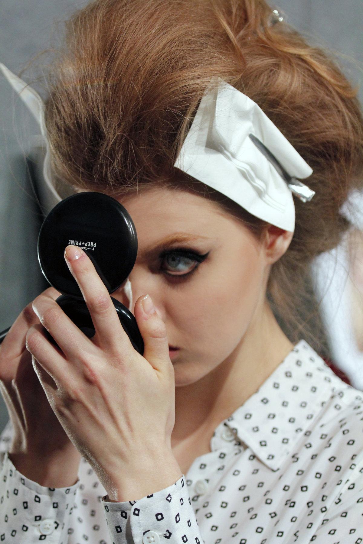 Fashion Show Backstage Makeup