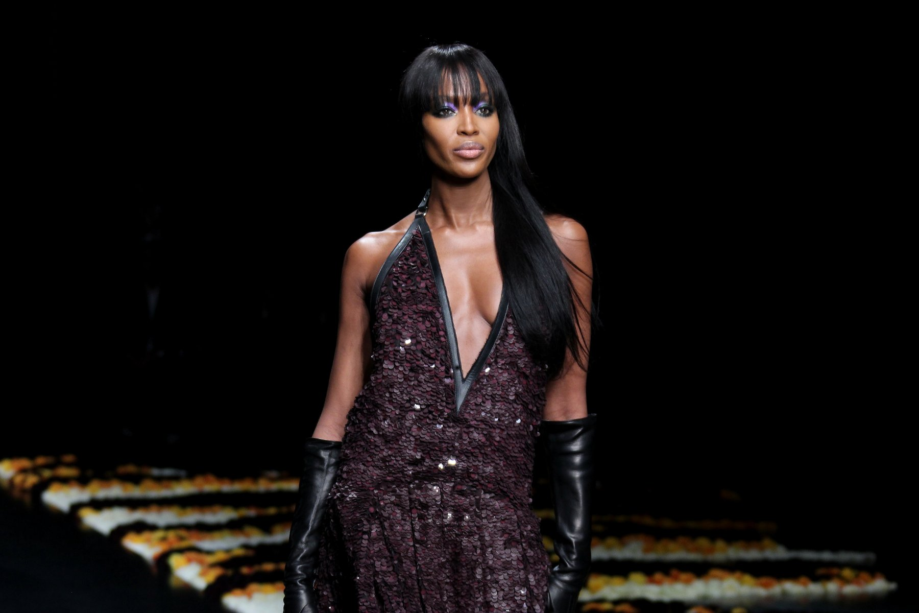 Naomi Campbell Cavalli Fashion-Show