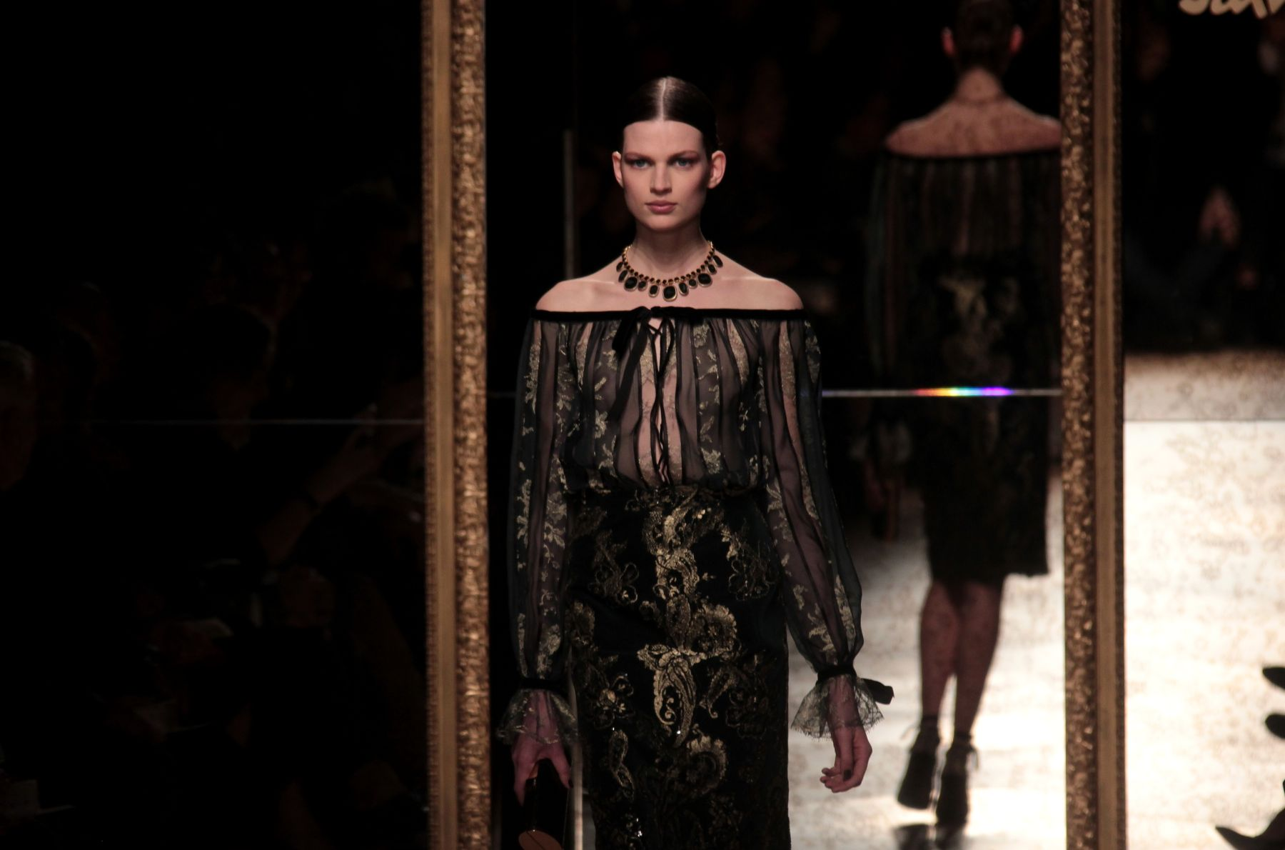 Salvatore Ferragamo Fall-Winter 2012-2013 Women Fashion Show Catwalk-Milano Fashion Week