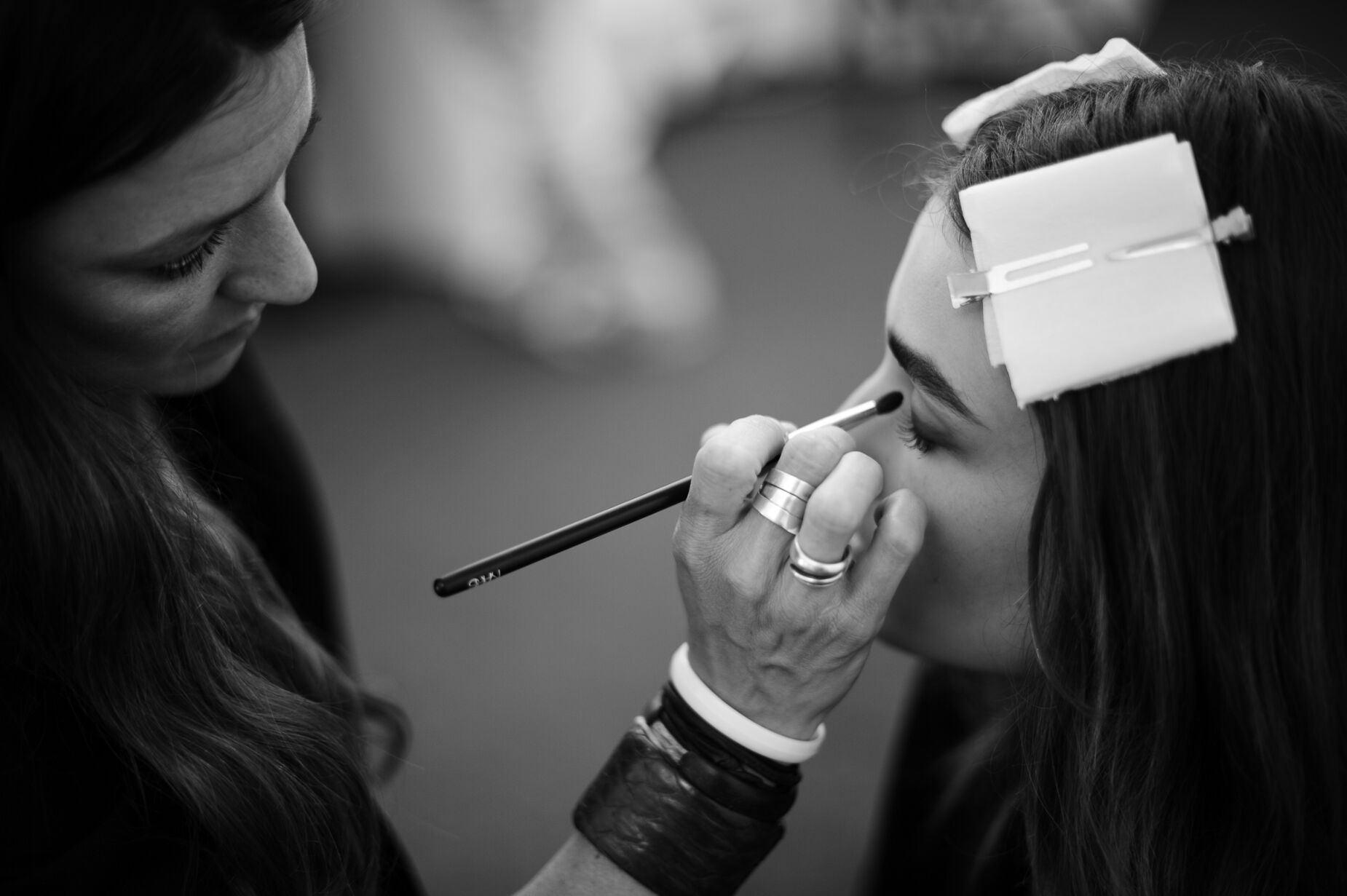 Backstage Fashion Show Makeup Fashion Model
