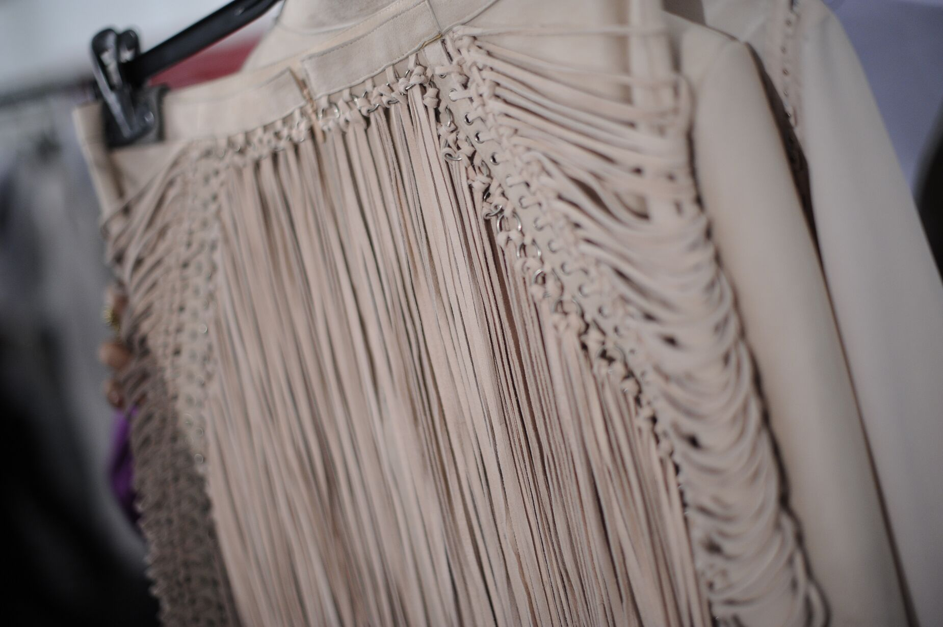 Dress Detail Backstage Salvatore Ferragamo Louvre Spring Summer 2013 Women's Resort Collection