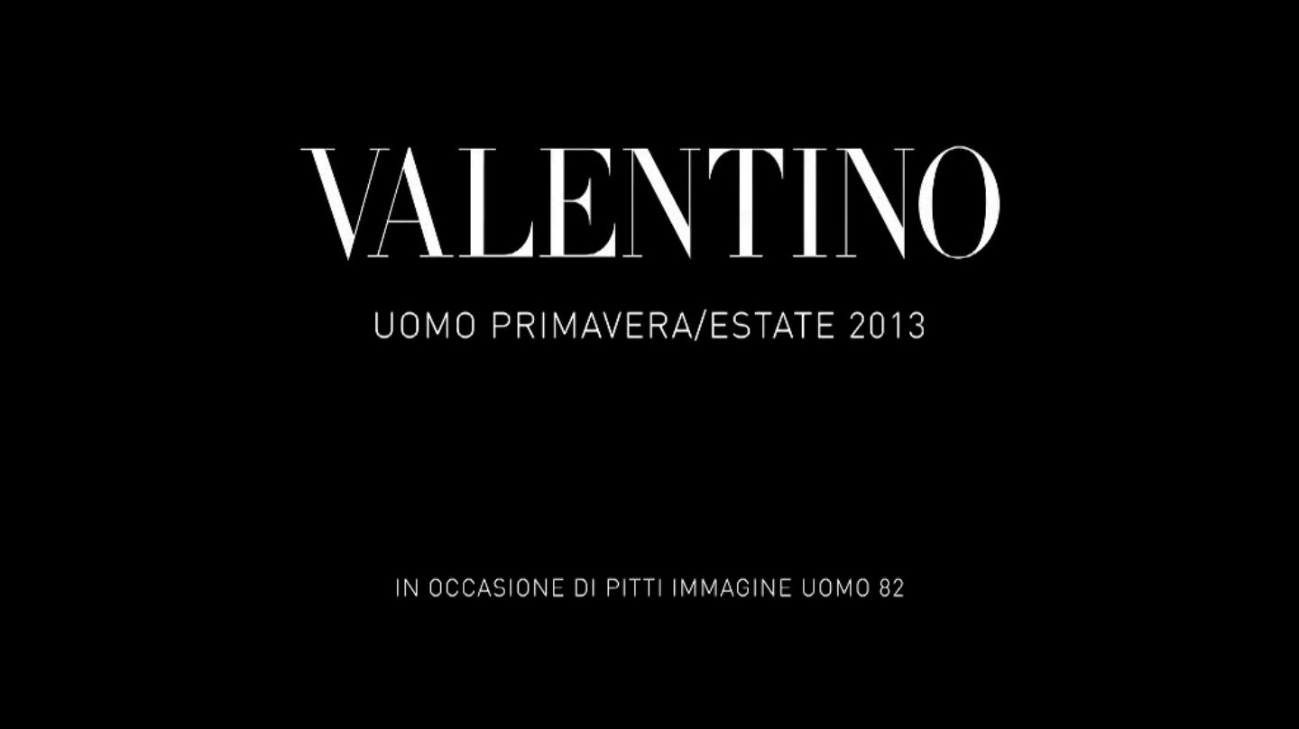 Valentino Spring Summer 2013 Men's Fashion Show - Pitti Uomo