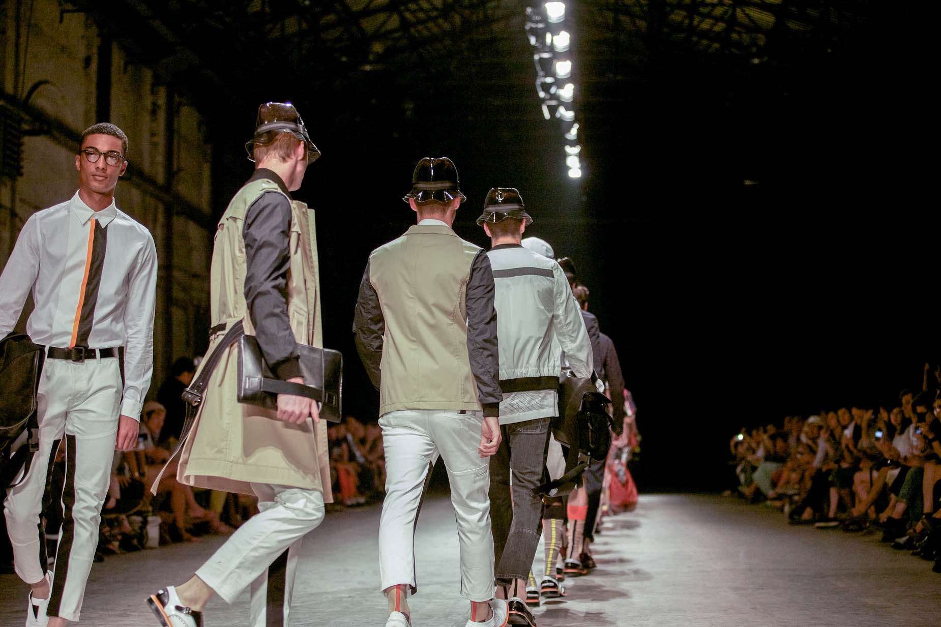 Andrea Pompilio Spring Summer 2013 Men Collection Pitti Immagine Uomo Runway Finale Bag Details