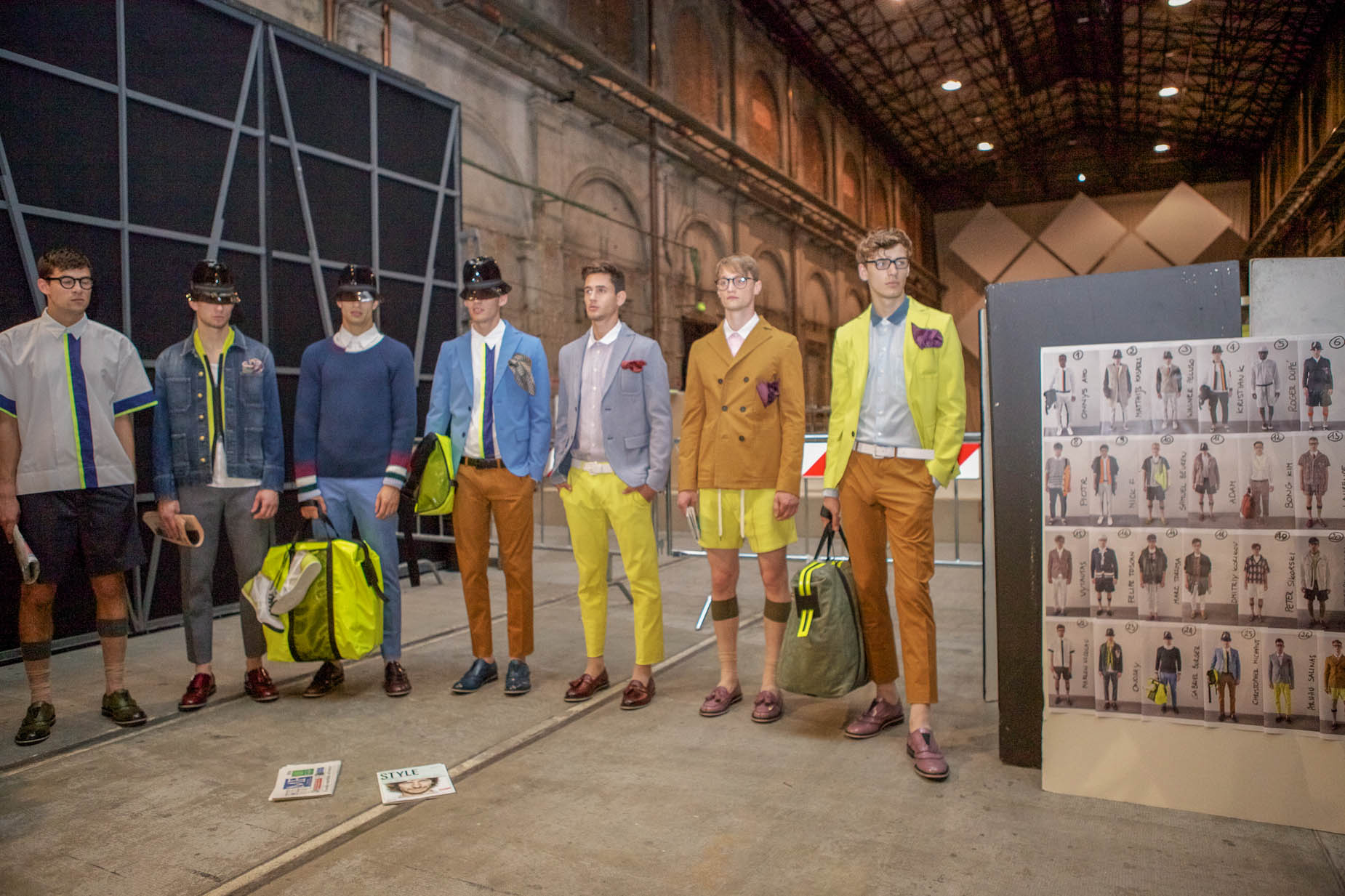Backstage Andrea Pompilio SS 2013 Men Collection