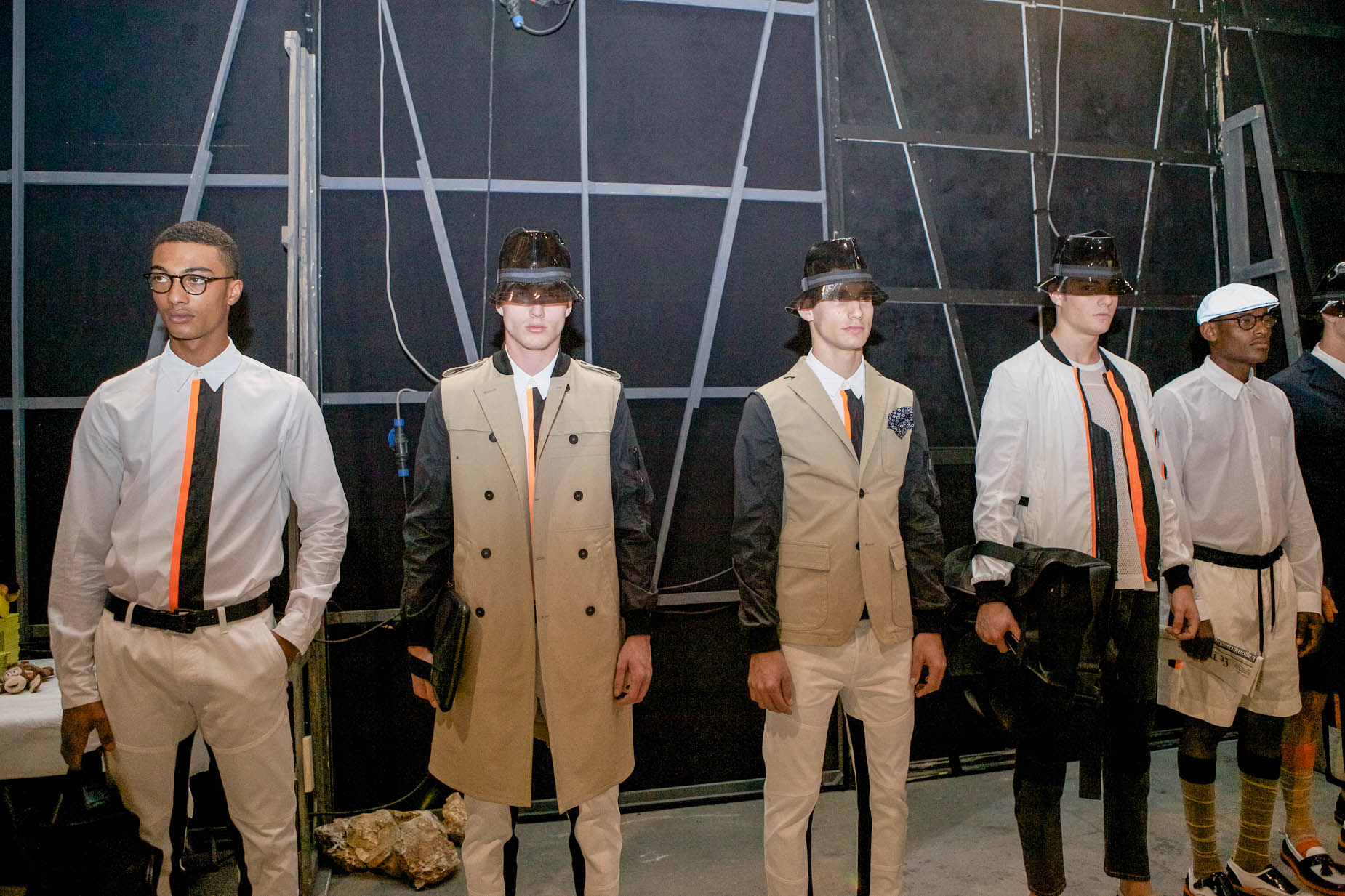 Backstage Andrea Pompilio Spring Summer 2013 Men's Collection Pitti Fashion Show