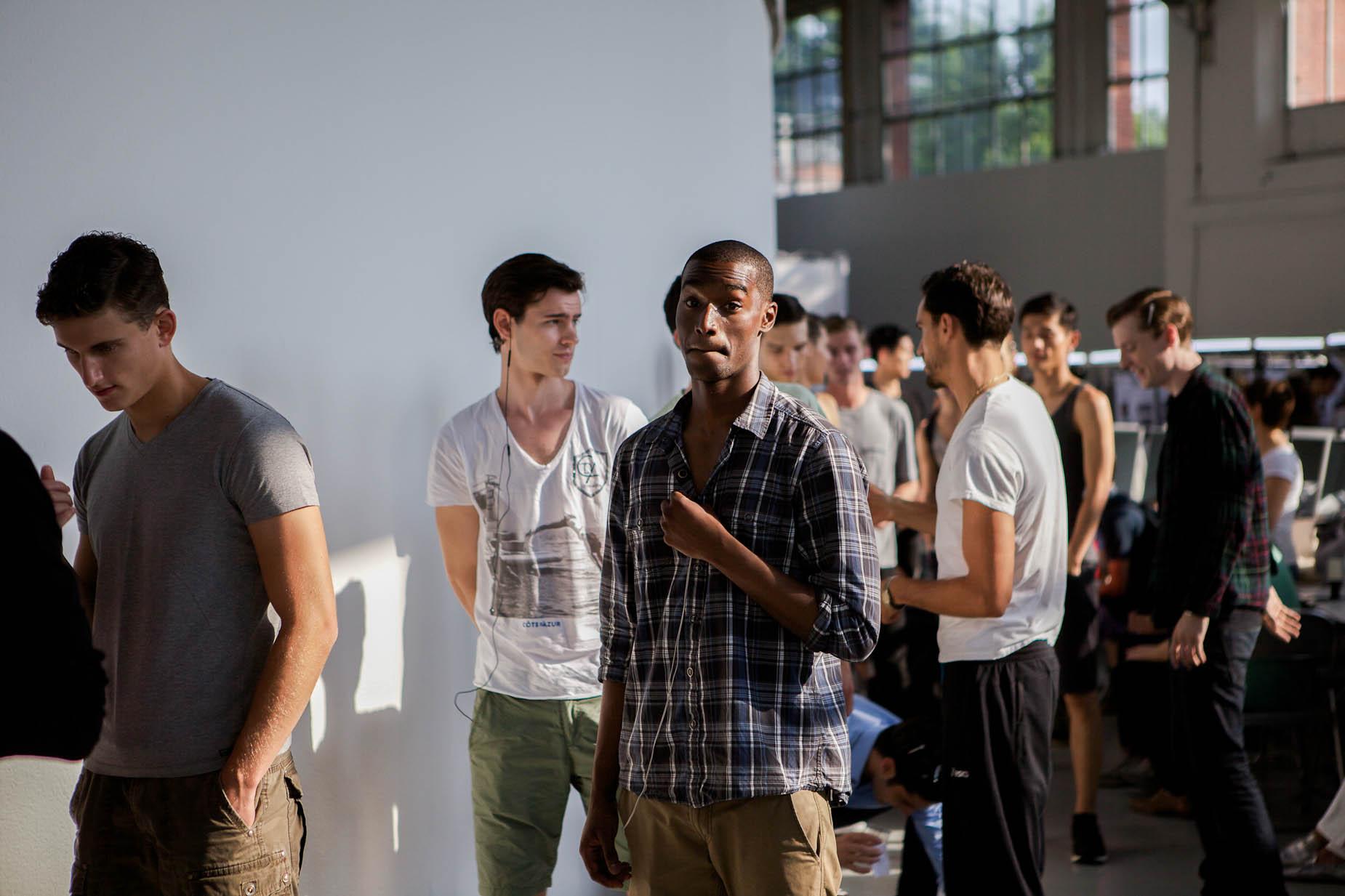 Backstage Corneliani Milano Fashion Week