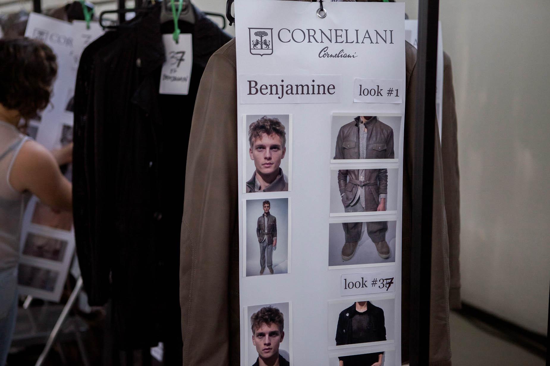 Corneliani Backstage