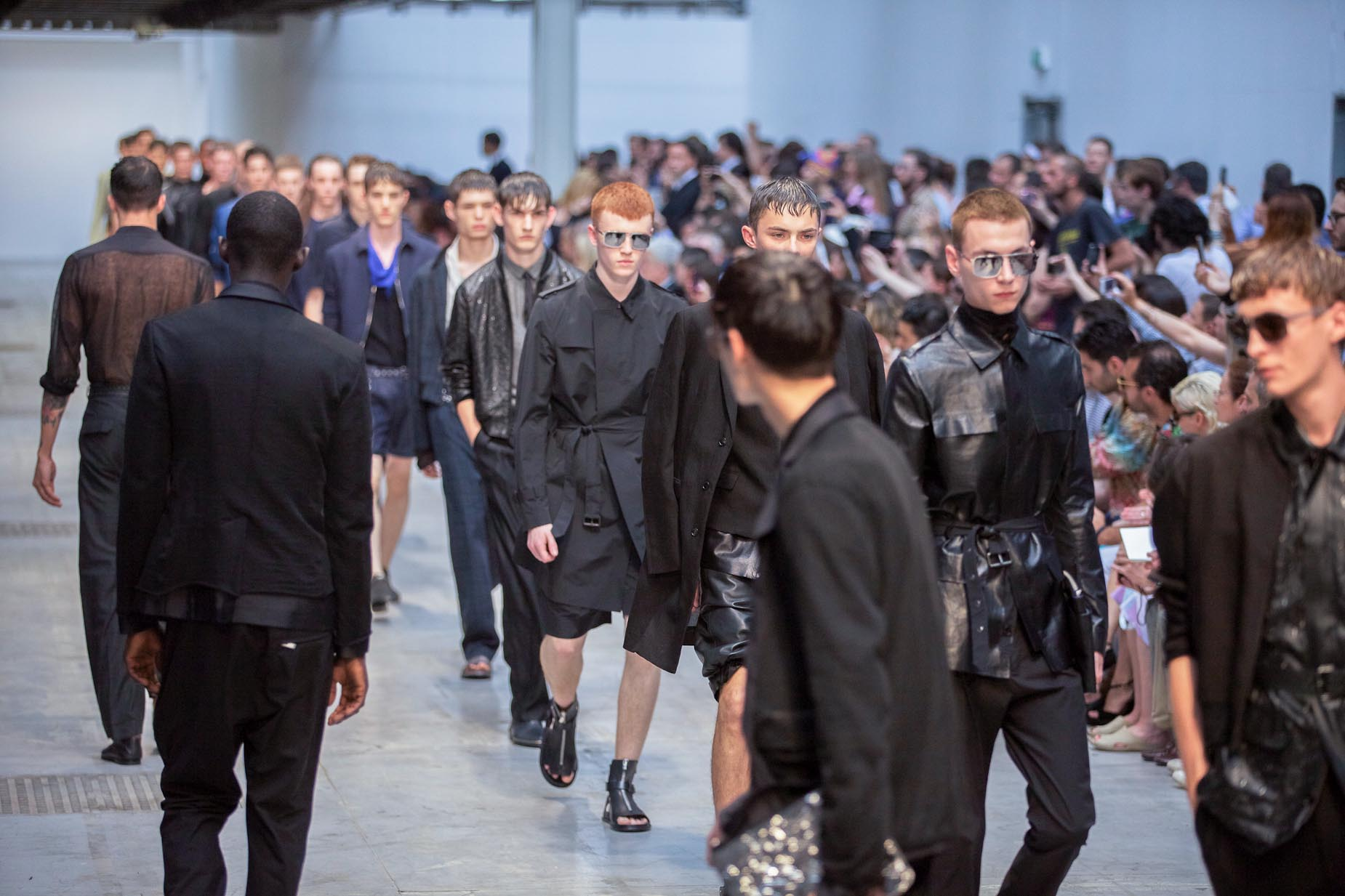 Costume National Homme Spring Summer 2013 Runway Finale