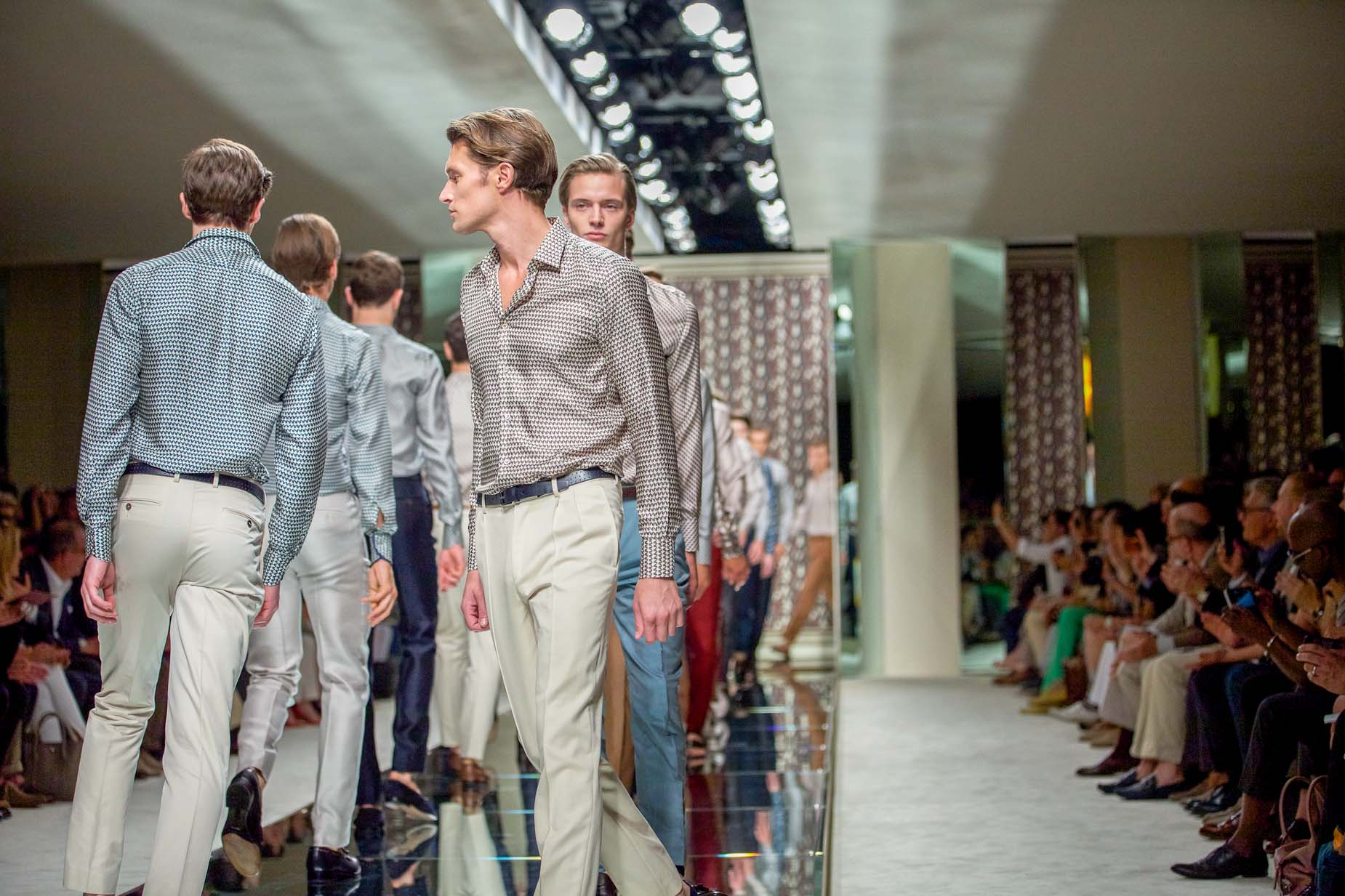 Ermenegildo Zegna Spring Summer 2013 Men Collection Milano Fashion Week Runway Finale