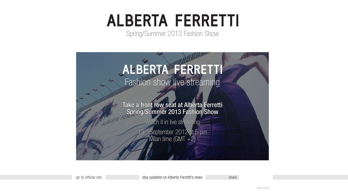 Alberta Ferretti - Spring Summer 2013 - Fashion Show Live Streaming