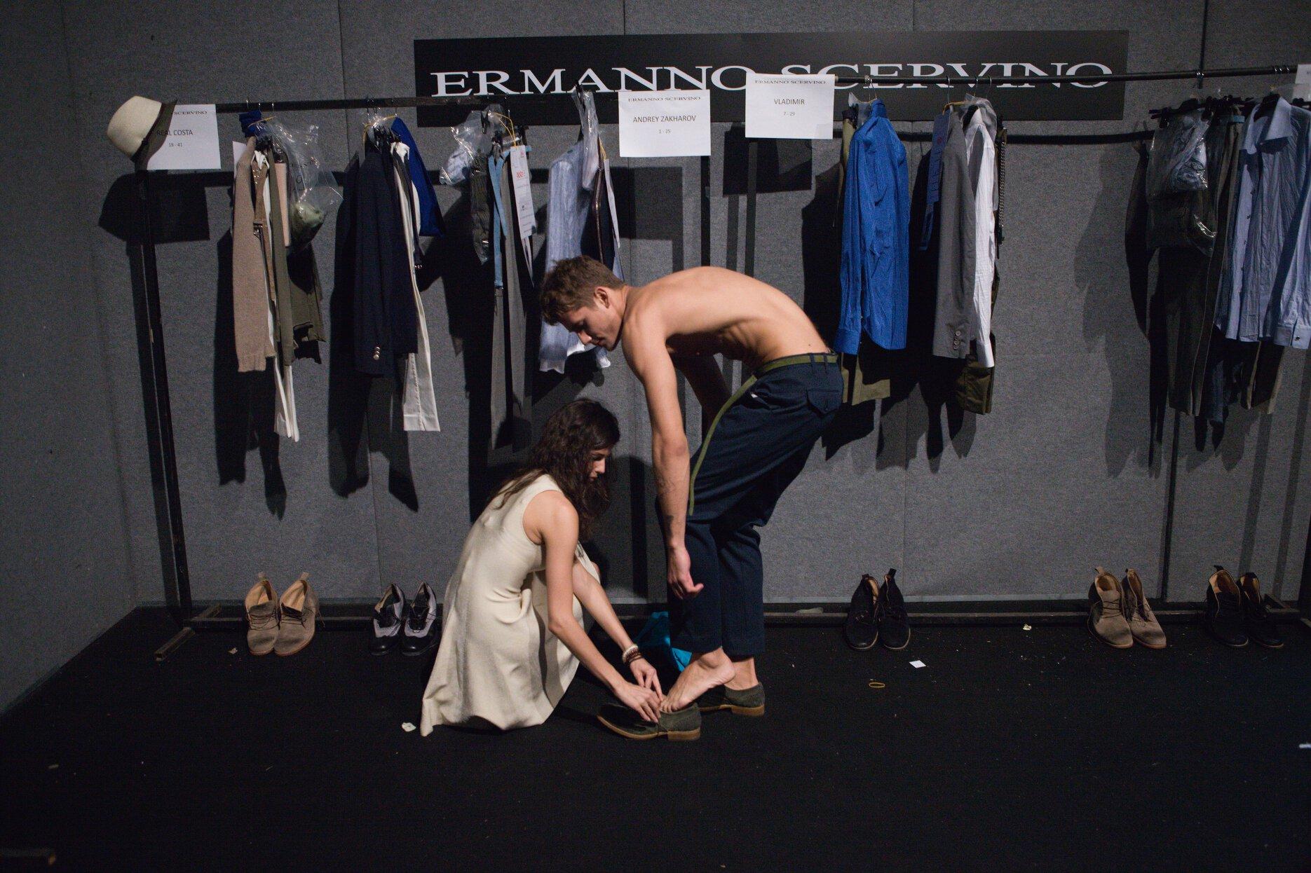 Backstage Ermanno Scervino SS 2013