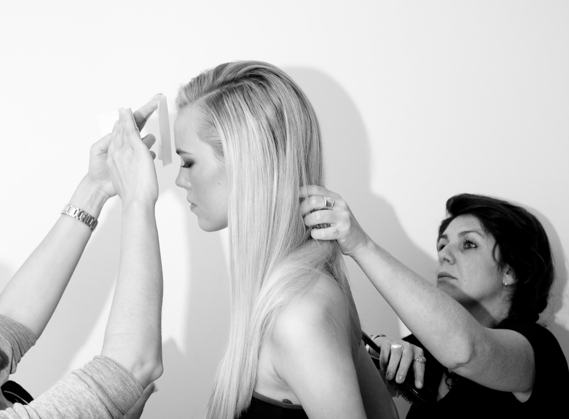 Backstage Model Hairstylist Fashion Show