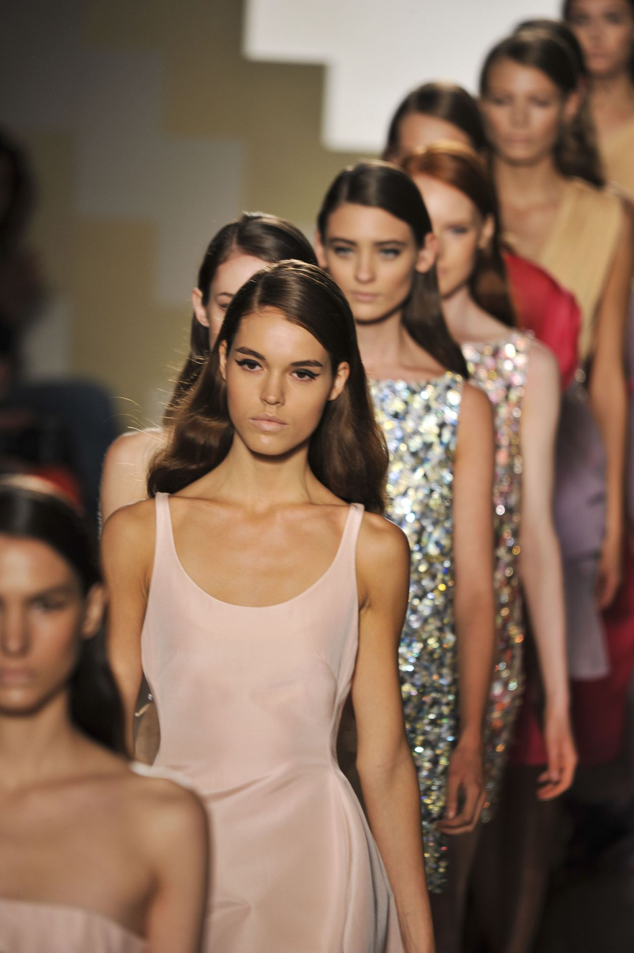 Mila Schön Spring Summer 2013 Women Collection Milano Fashion Week Runway Finale