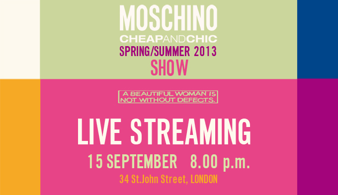 Moschino Cheap And Chic Spring Summer 2013 Fashion Show Live Streaming 15 September 2012