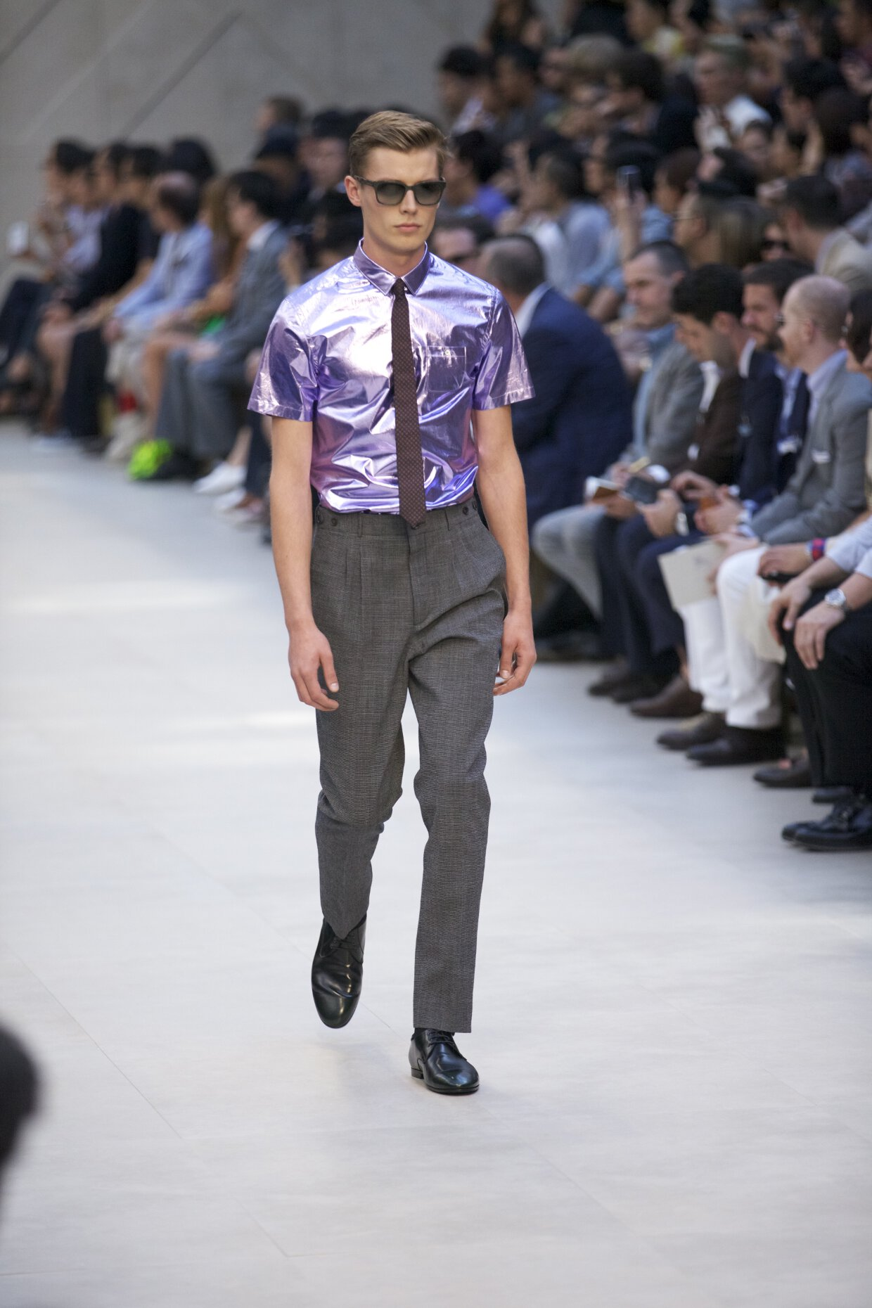 Spring 2013 Fashion Trends Burberry Prorsum - Metallic Shirt