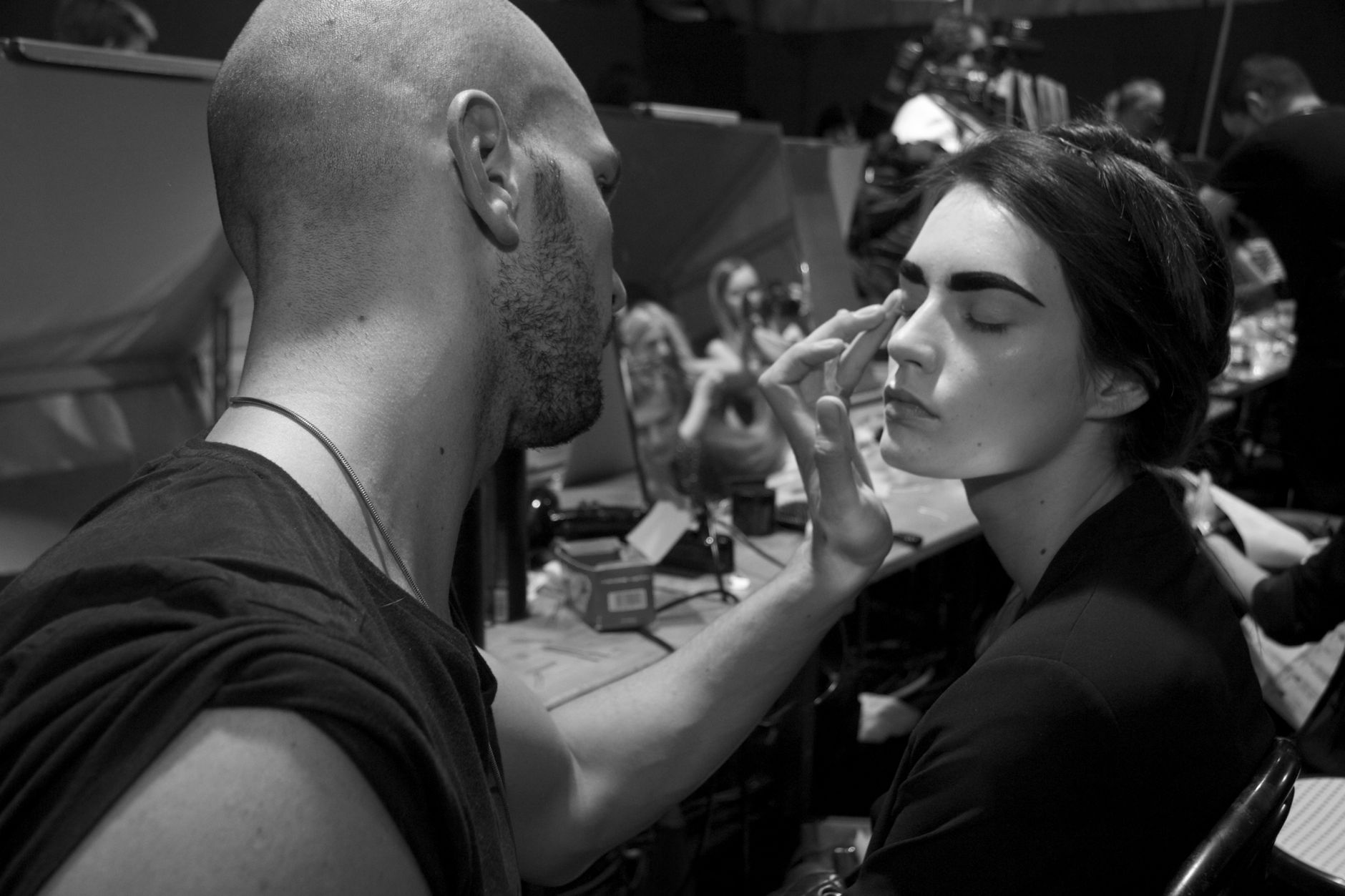 Backstage Anteprima Fashion Show Makeup Milano Fashion Week