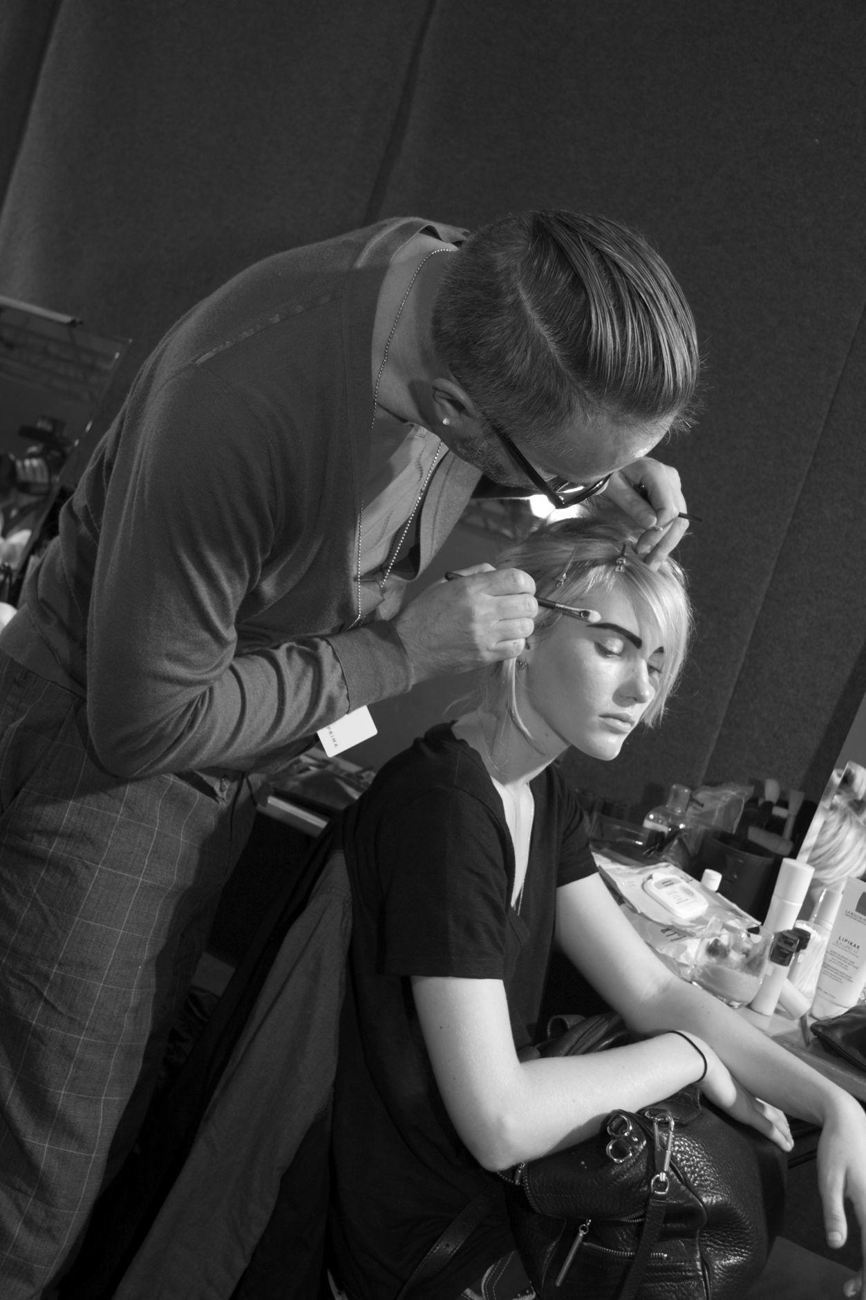 Backstage Fashion Show Beauty Makeup