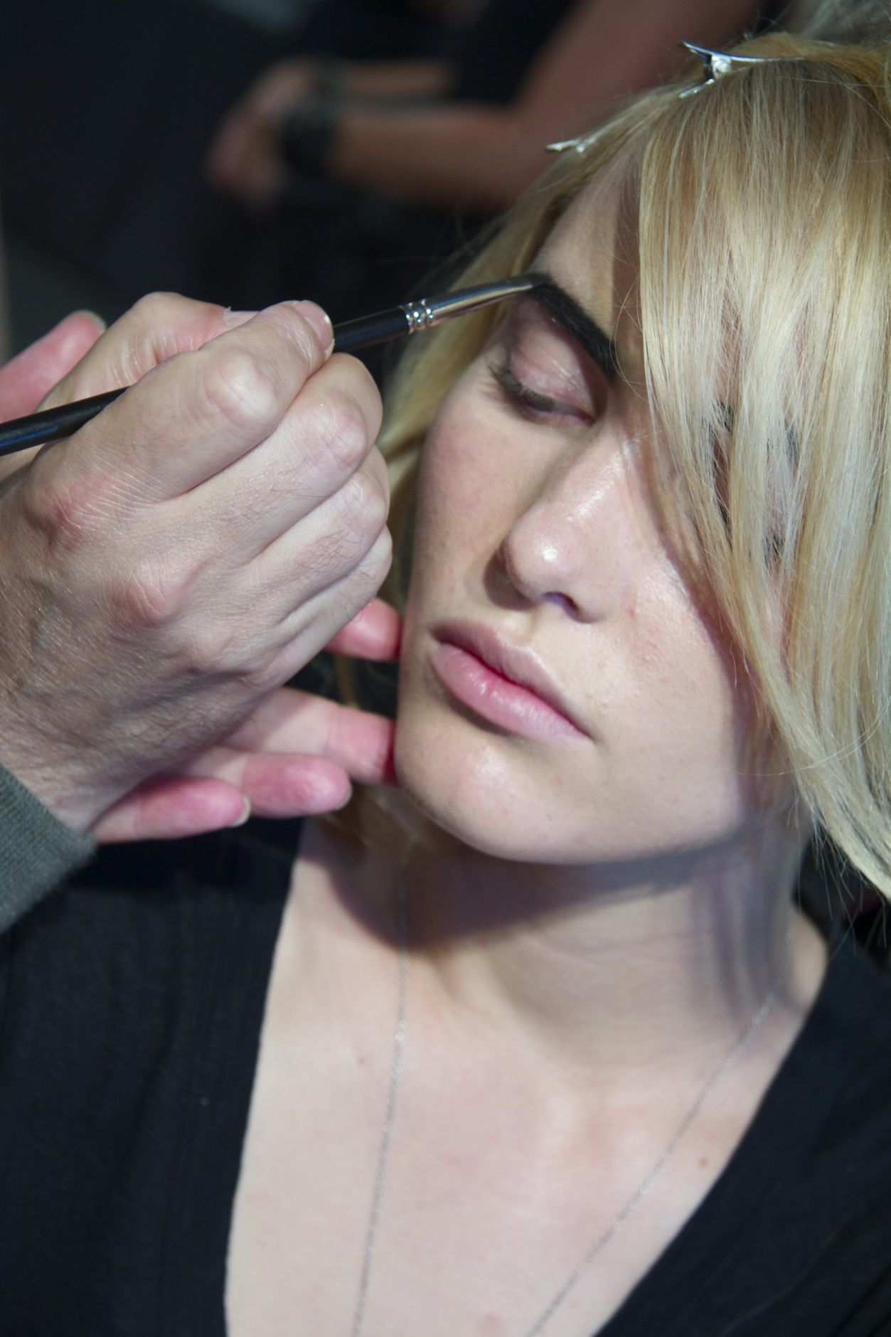 Backstage Fashion Show Makeup