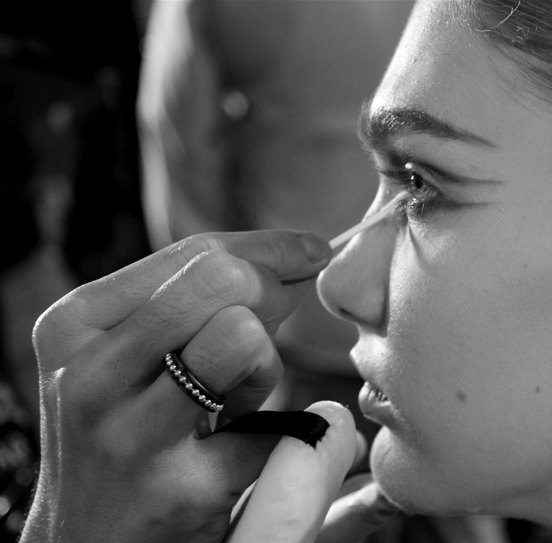 Backstage Fashion Model Makeup