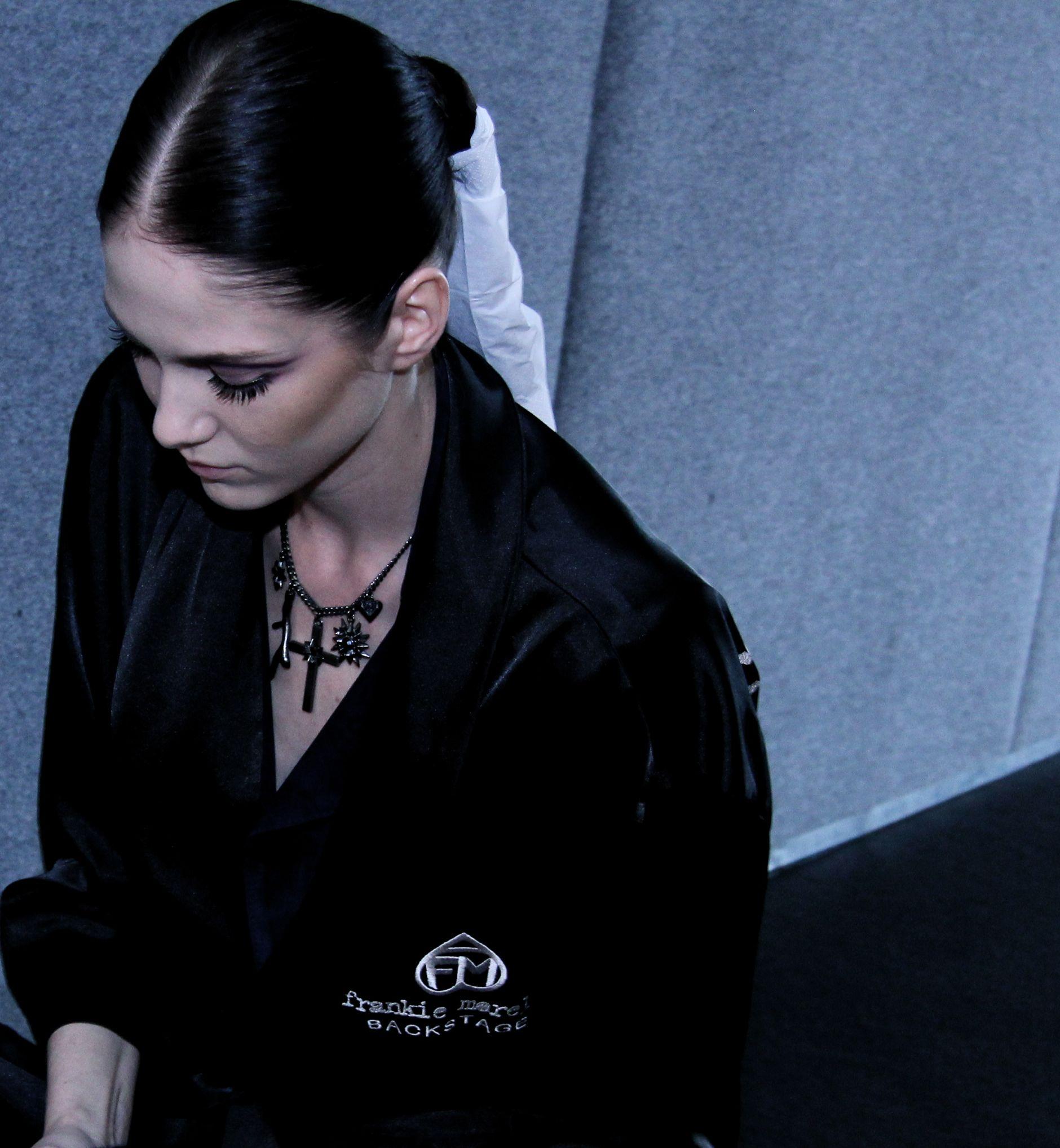 Backstage Fashion Model