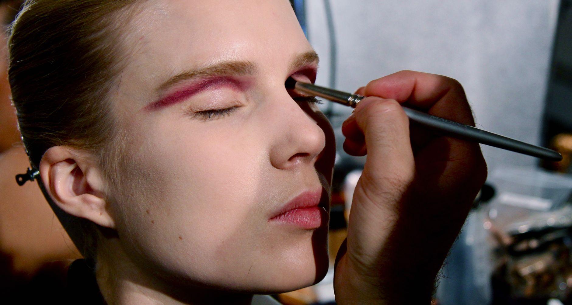 Backstage Frankie Morello SS 2013 Fashion Woman Makeup