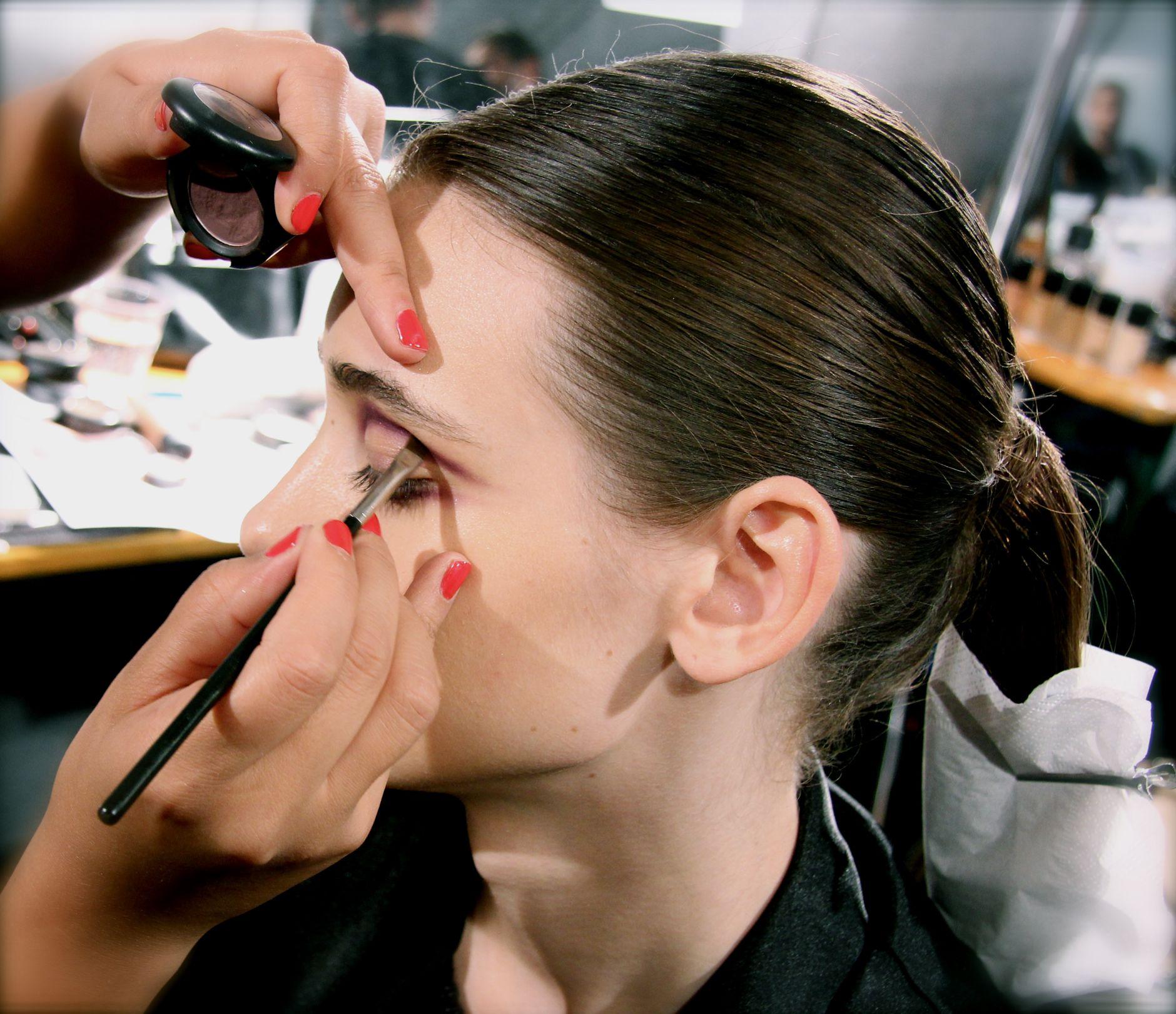 Backstage Frankie Morello SS 2013 Makeup