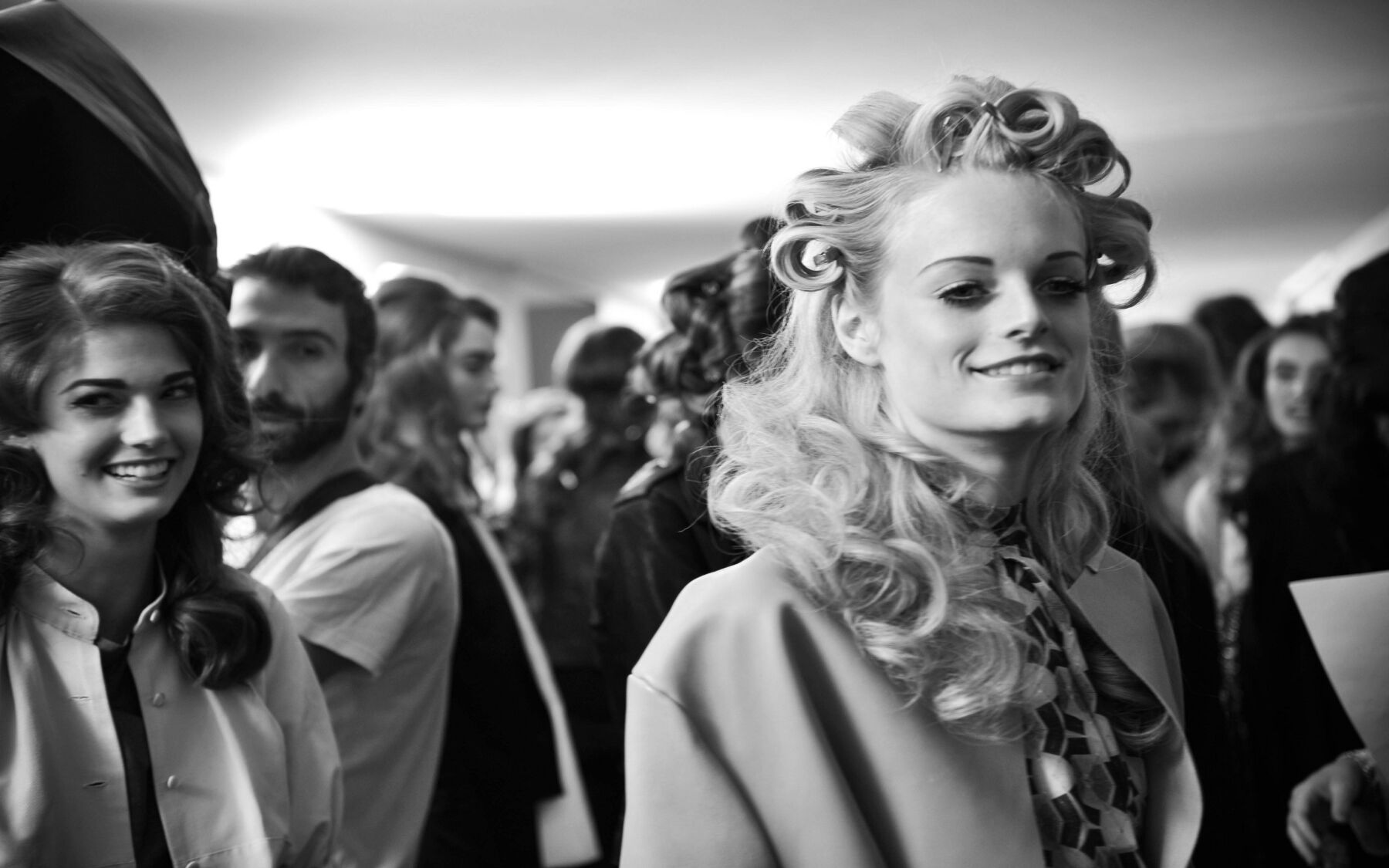 Backstage Moschino Spring Summer 2013 Women's Collection