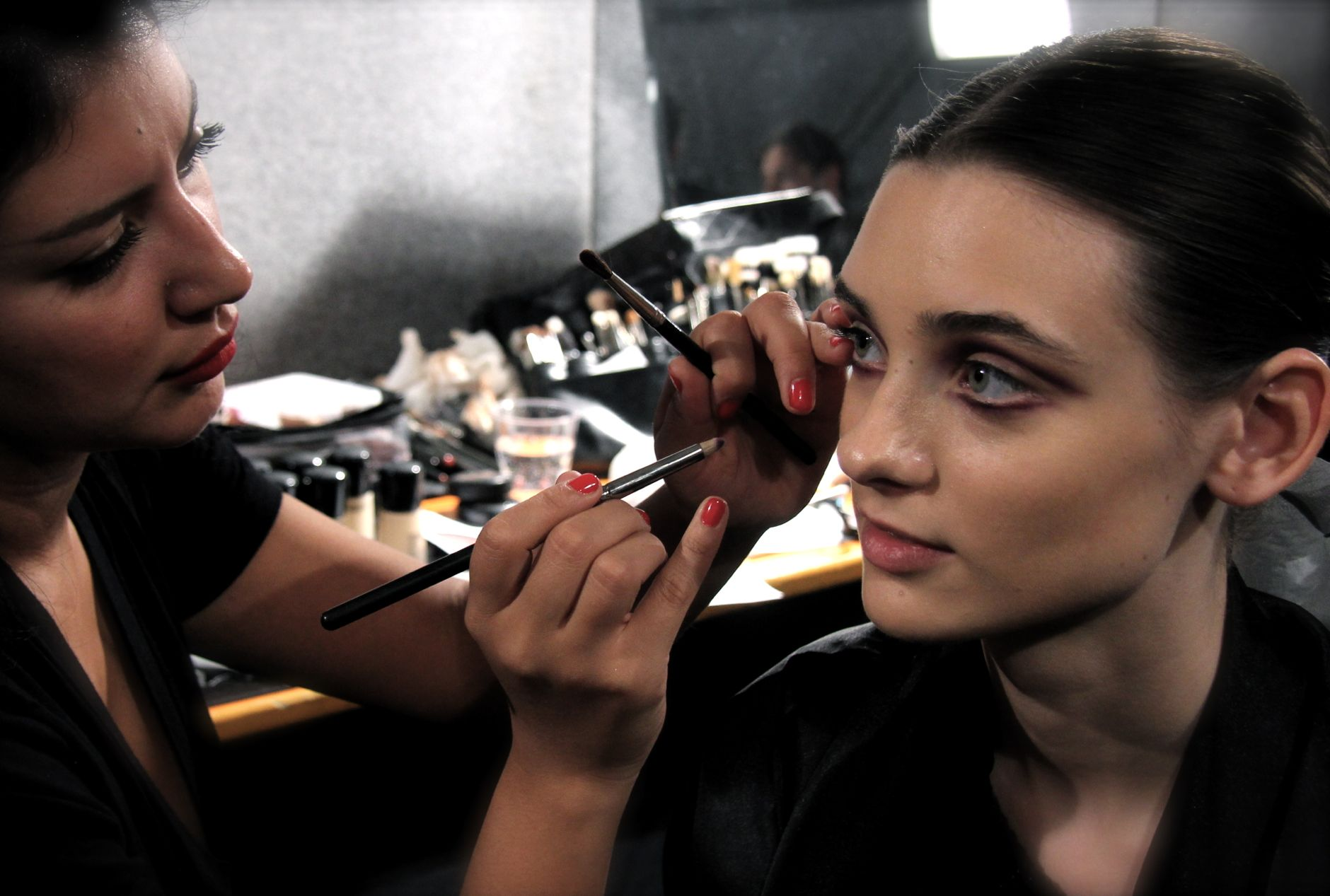 Frankie Morello Backstage Makeup