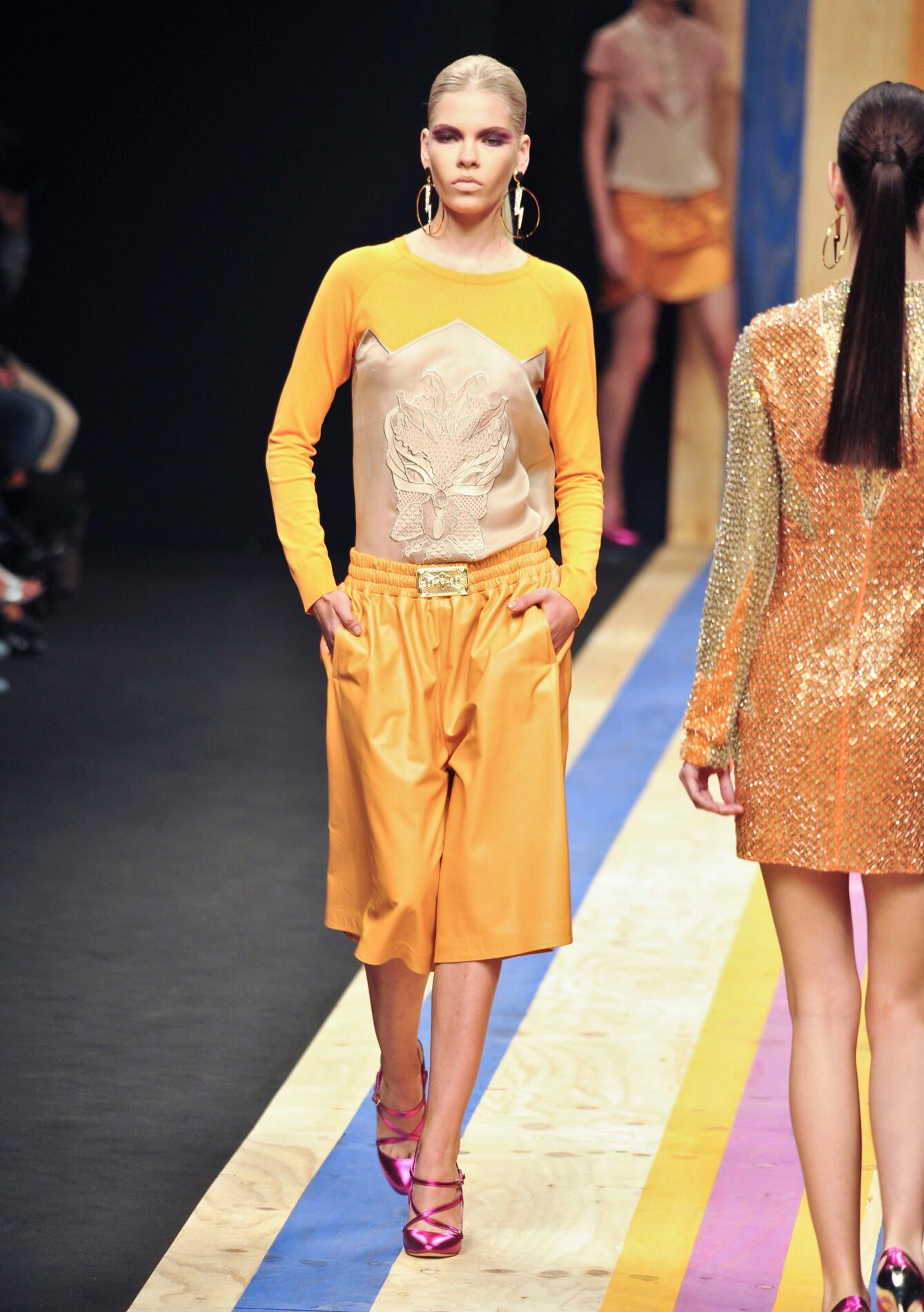 Spring Color Dress Fashion Woman Orange