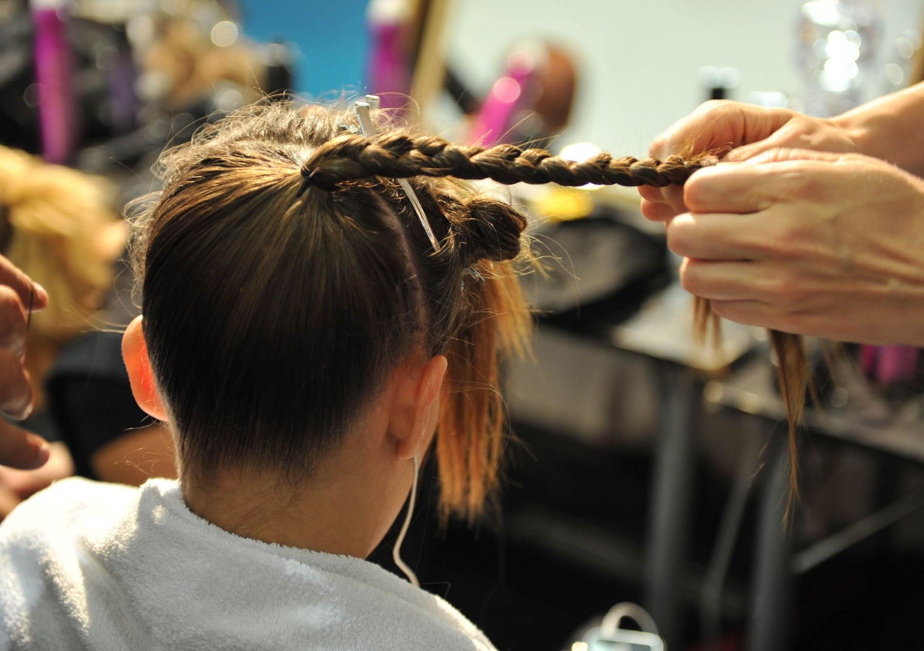 Backstage Antonio Marras Spring Summer 2013 Hair Stylist