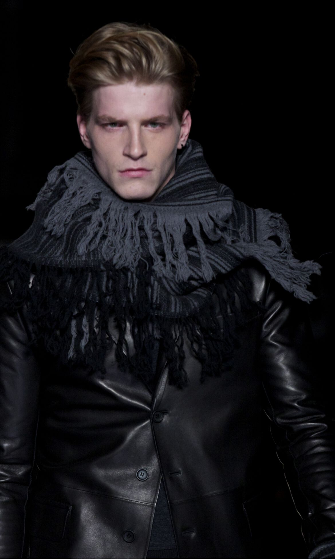 Ermanno Scervino Winter 2013 Catwalk Man Model Detail