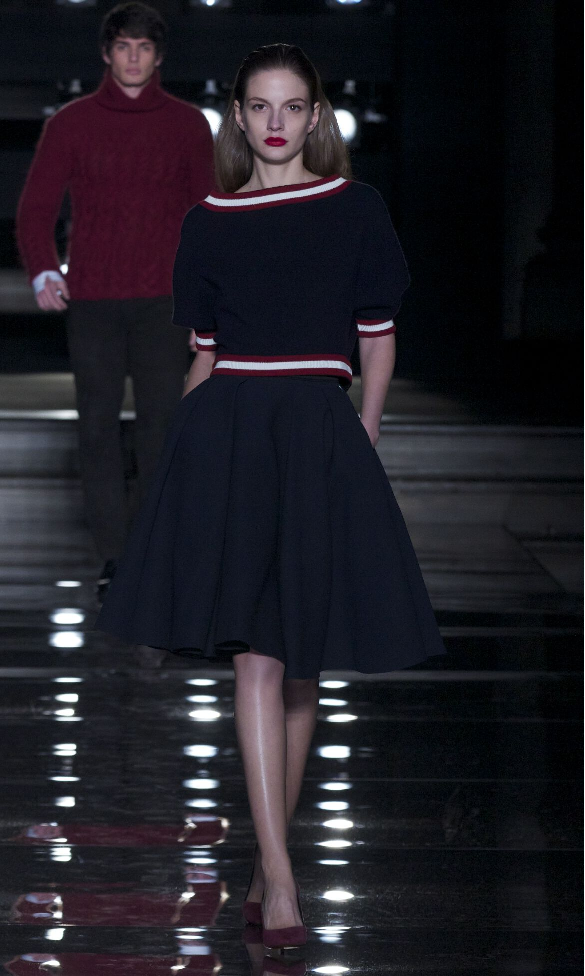Fall Color Dress Fashion Woman
