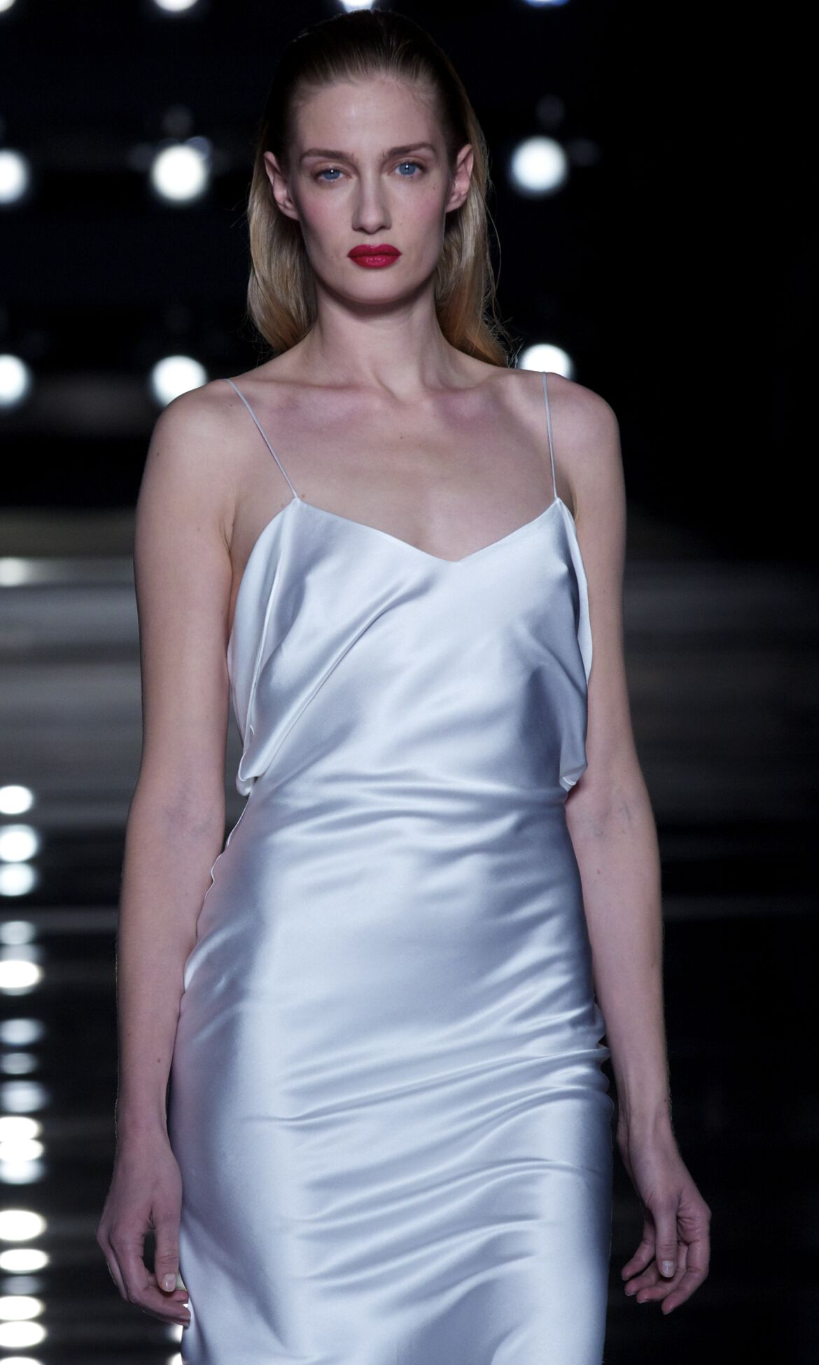 Fashion Model White Dress