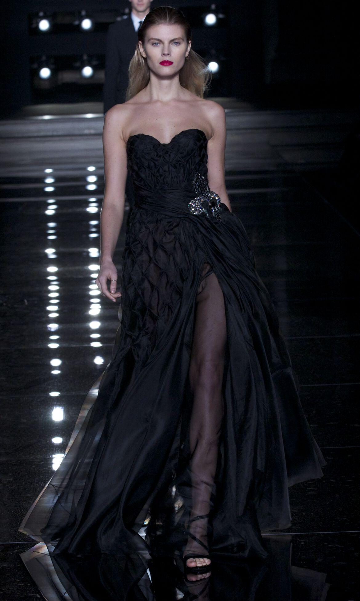 Fashion Show Model Black Dress