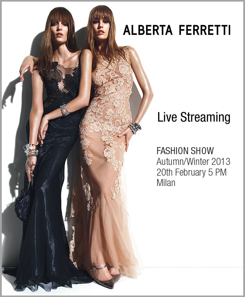 Alberta Ferretti Autumn Winter 2013-14 Live Streaming