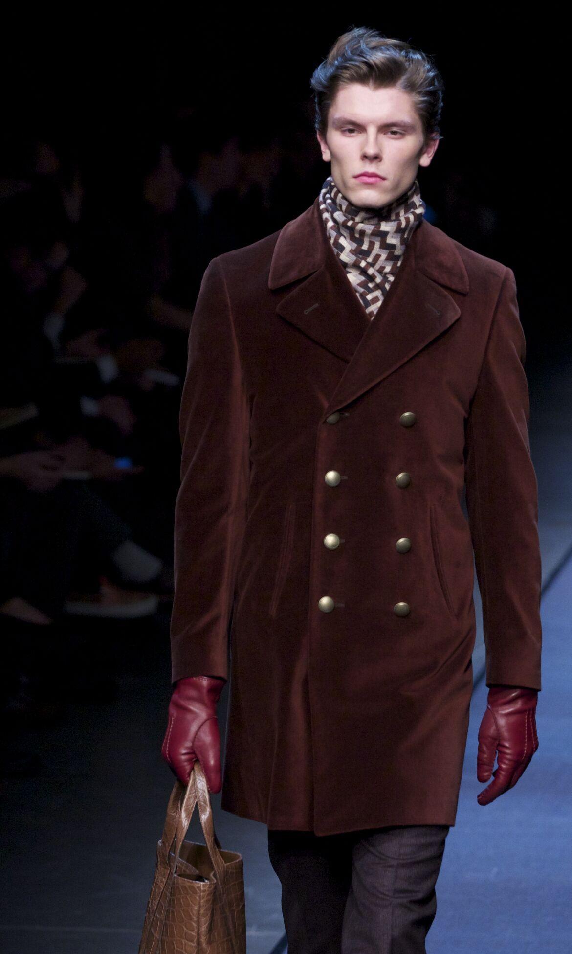 Canali Fall Winter 2013 14 Men Collection Milan Fashion Week Fashion Show