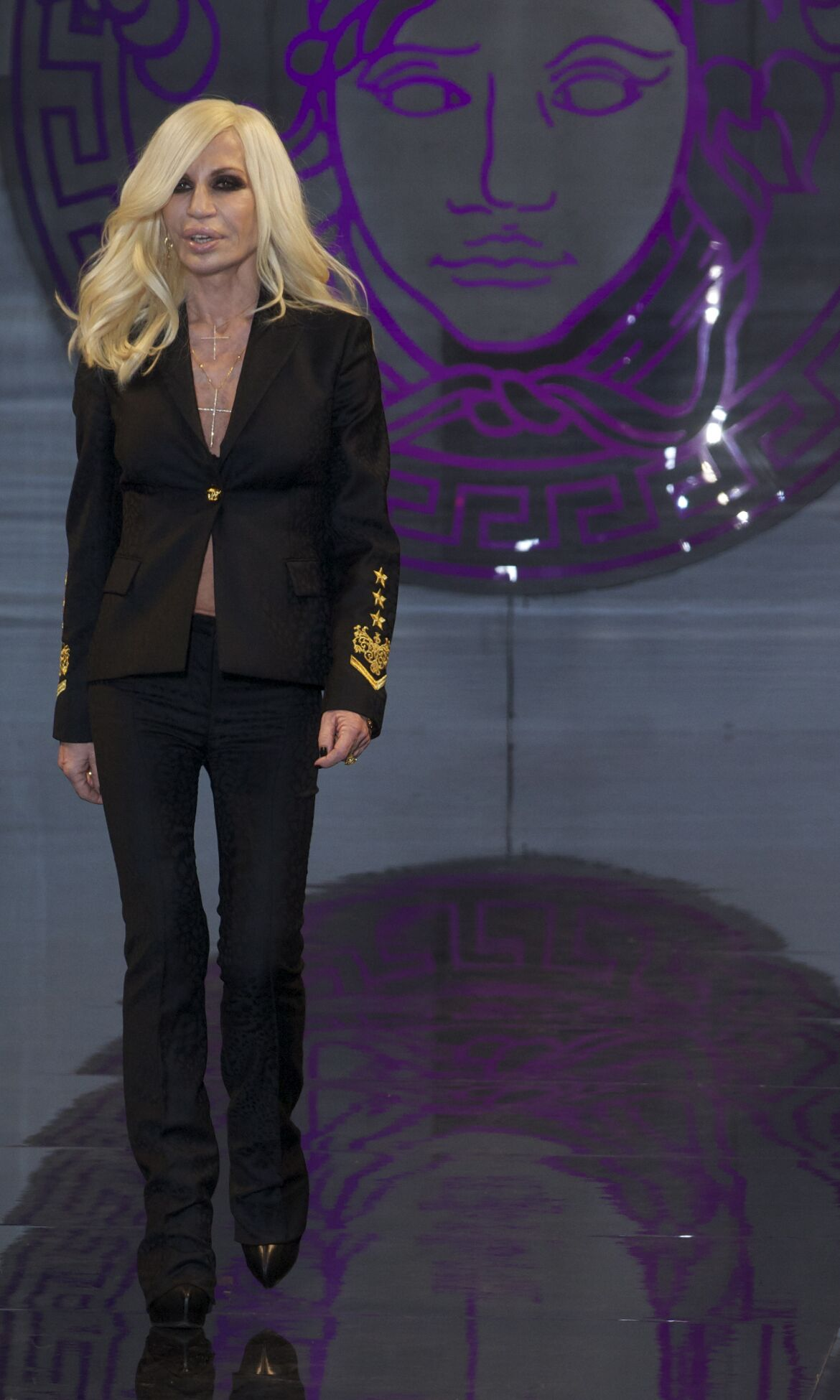 Donatella Versace Fall Winter 2013 14 Men Collection Milano Fashion Week