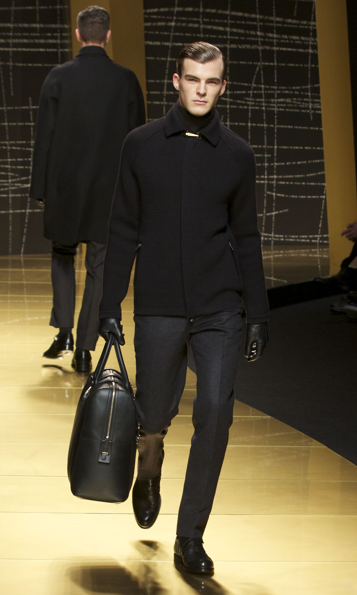 Fashion Man Model Ermenegildo Zegna Catwalk